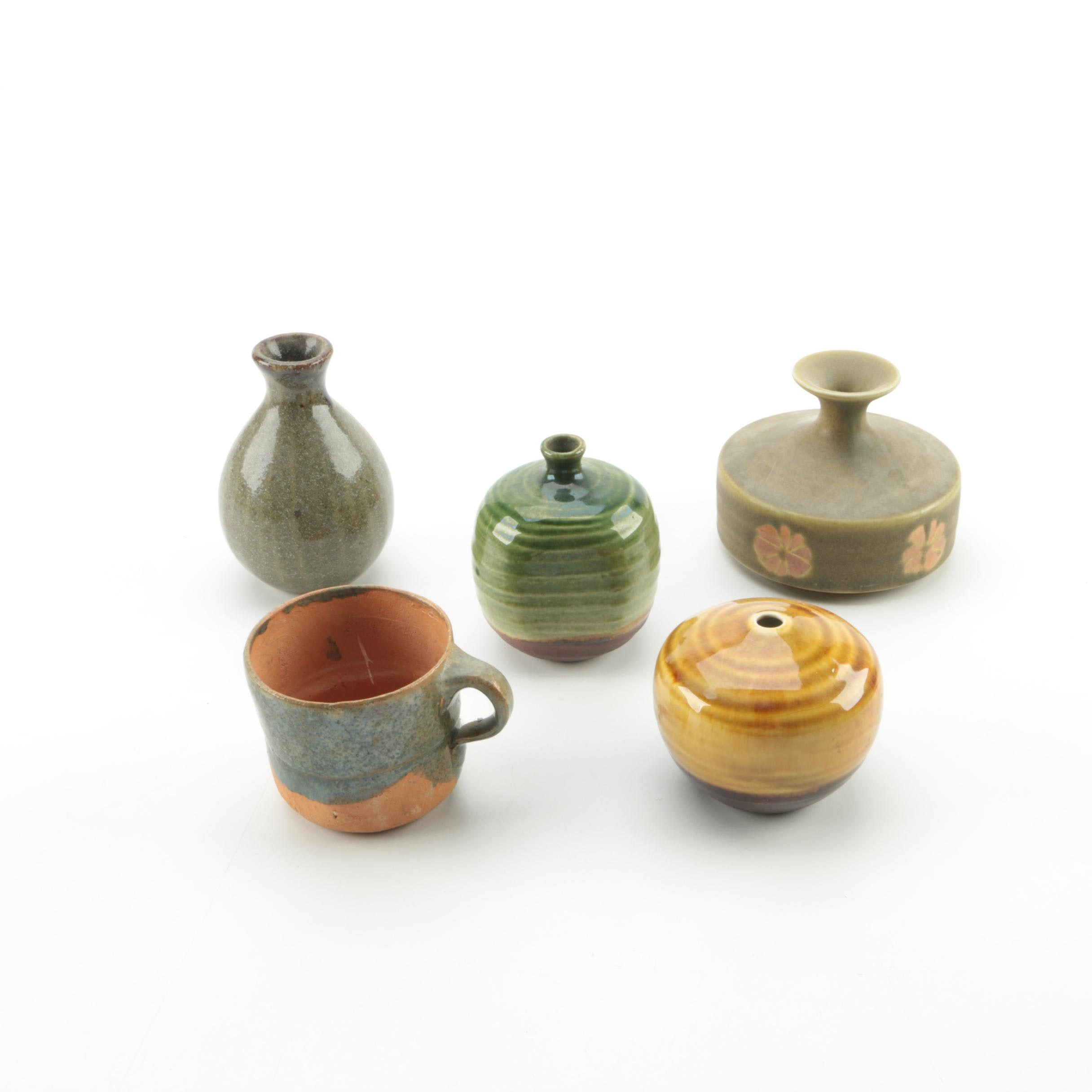 Earthenware and Ceramic Vases and Mug including Takahasi