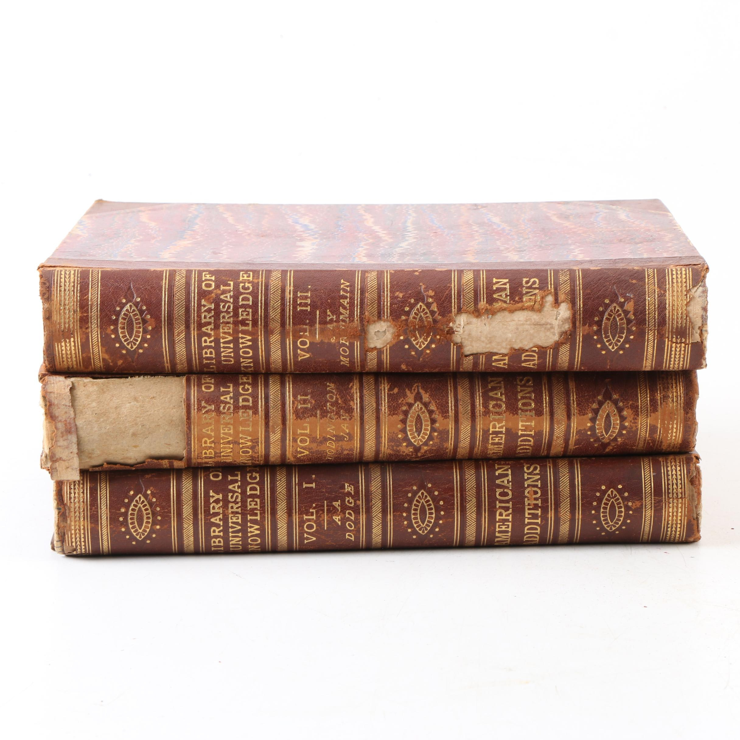 "1880 ""Library of Universal Knowledge"" Volumes"