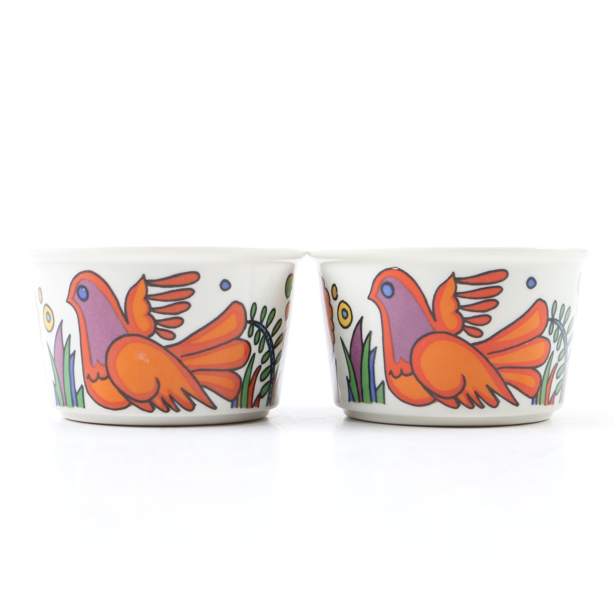 "Vintage Villeroy & Boch ""Acapulco"" Porcelain Ramekins"