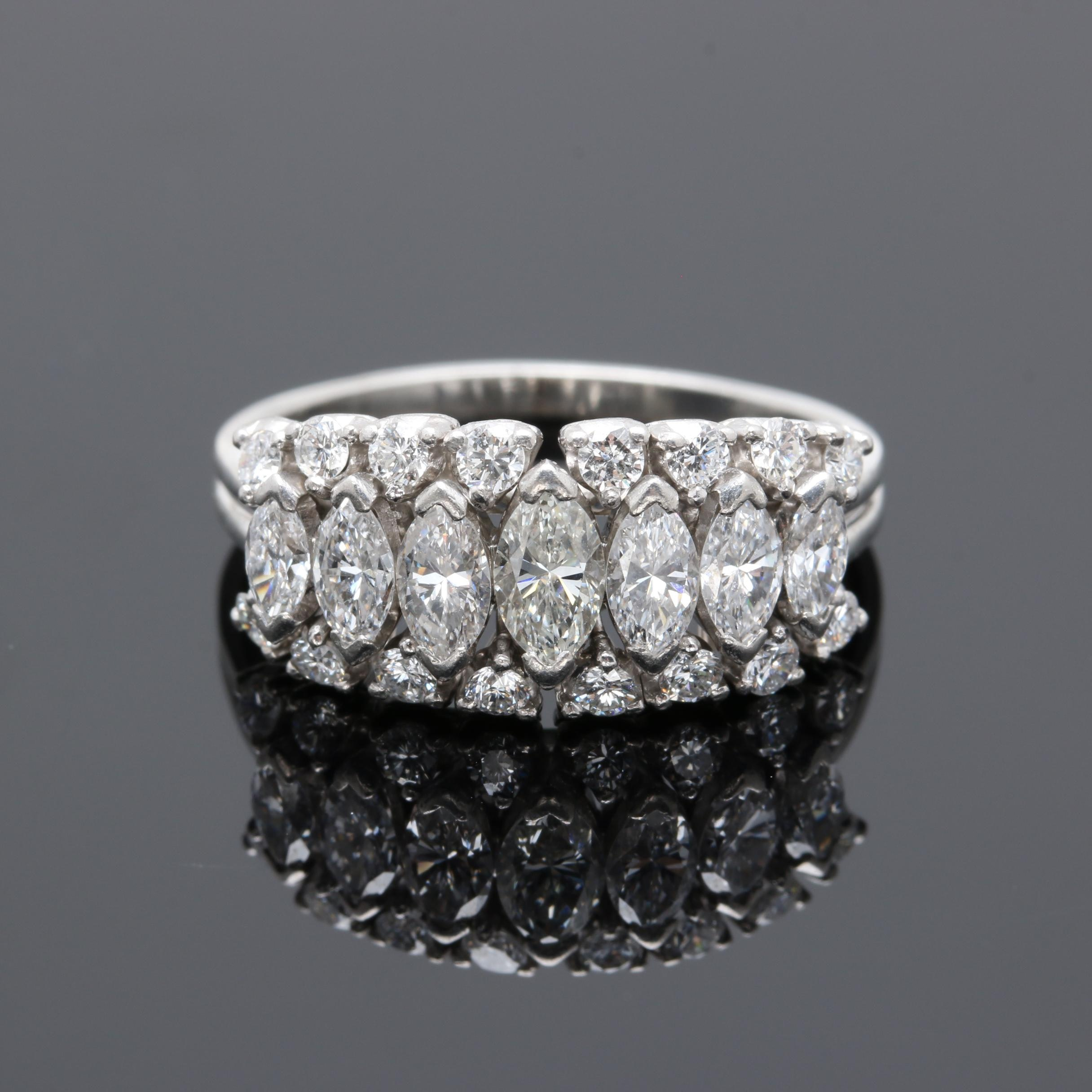 Platinum 1.97 CTW Diamond Ring