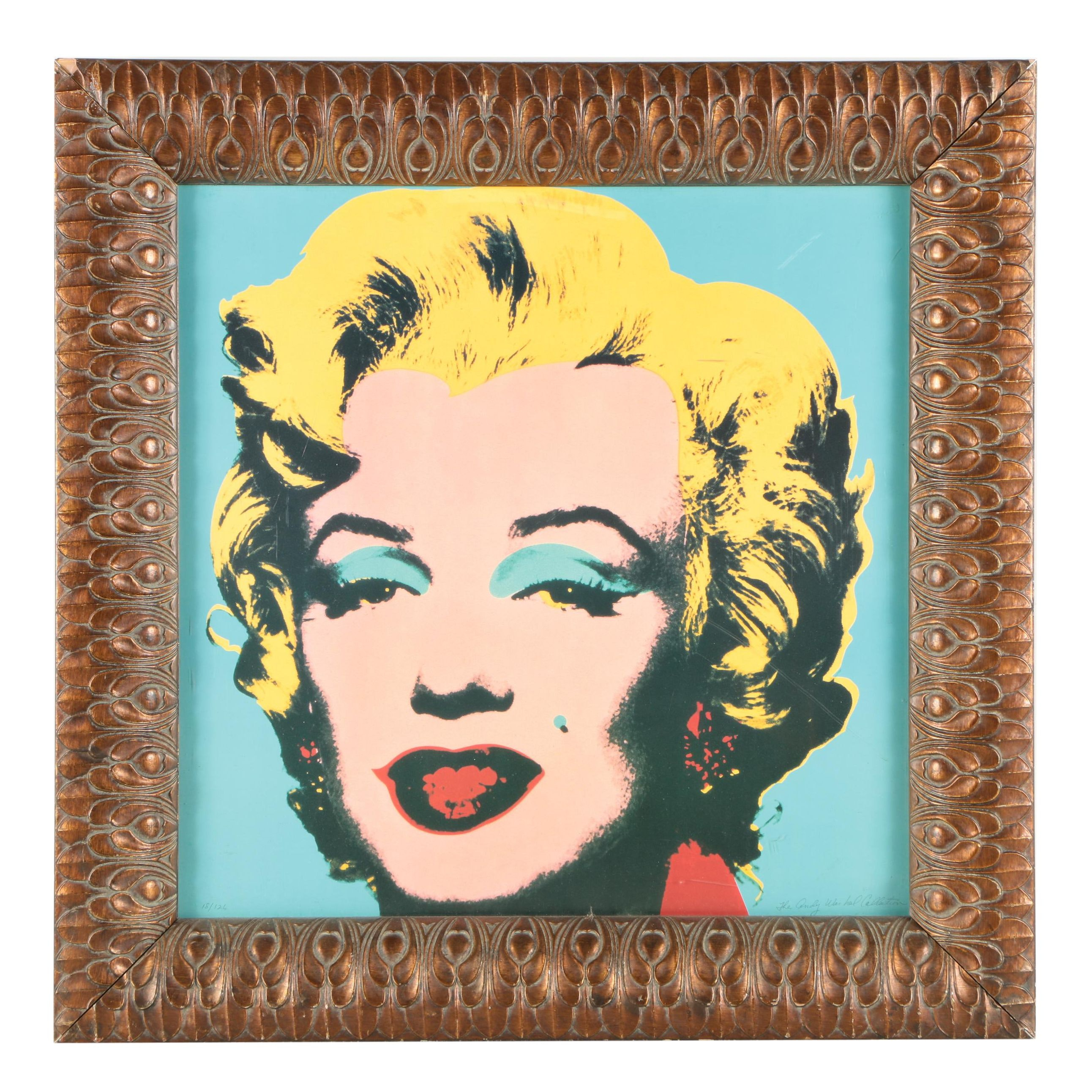 "Limited Edition Offset Lithograph After Andy Warhol's ""Marilyn Monroe"""