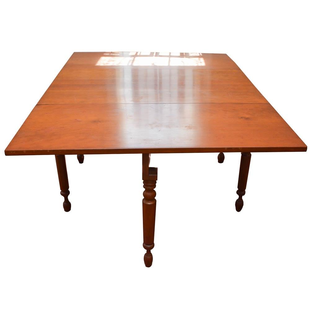 Vintage Gate-Leg Cherry Dining Table