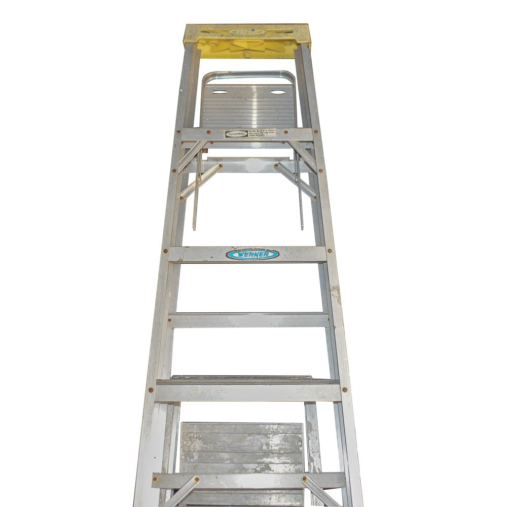 Werner and Sears Aluminum Step Ladders