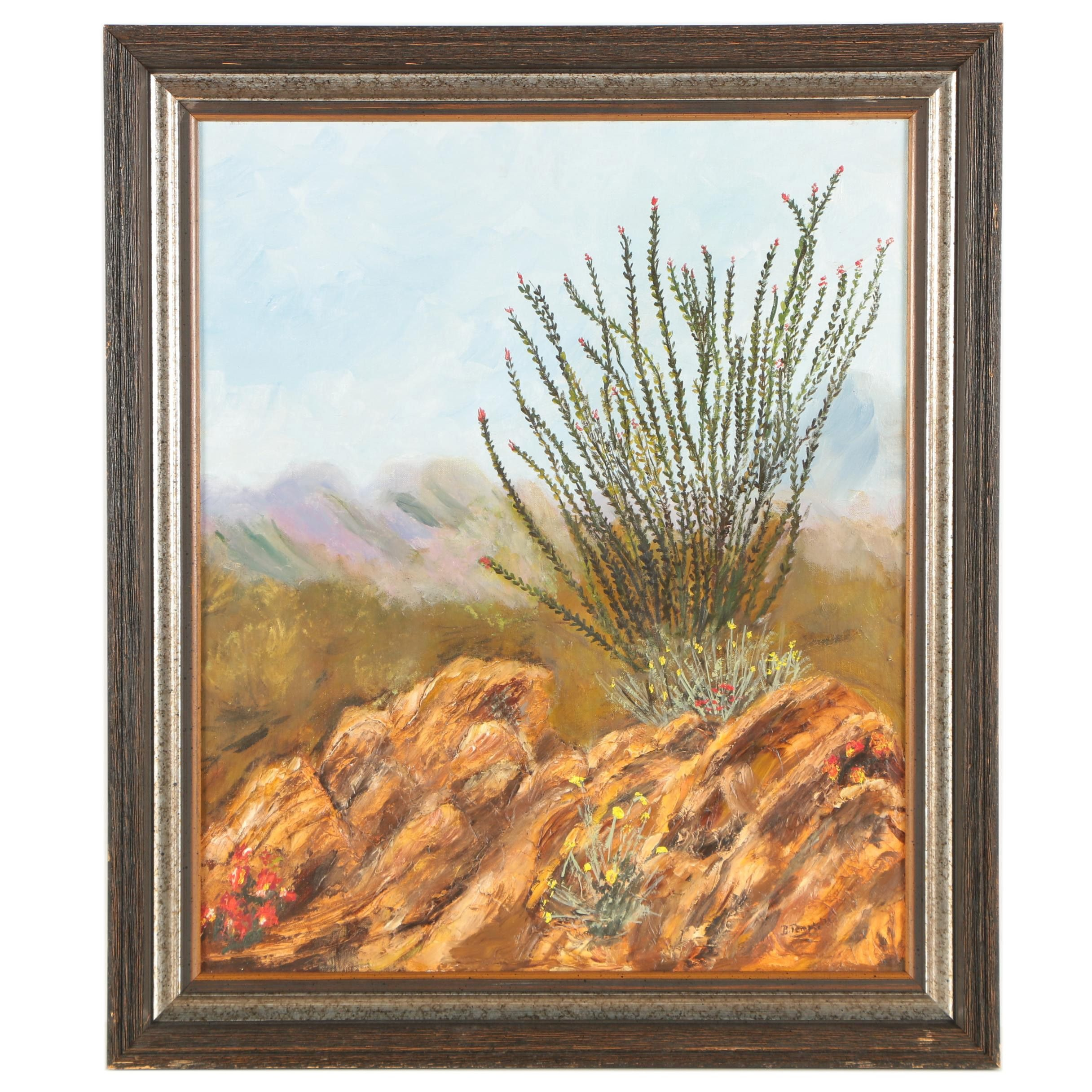 1973 B. Temple Oil Painting