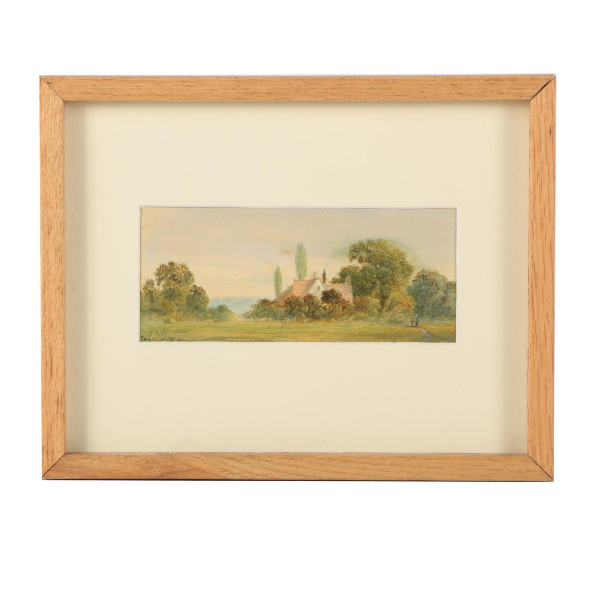 Edward B. Lait Watercolor Landscape Painting