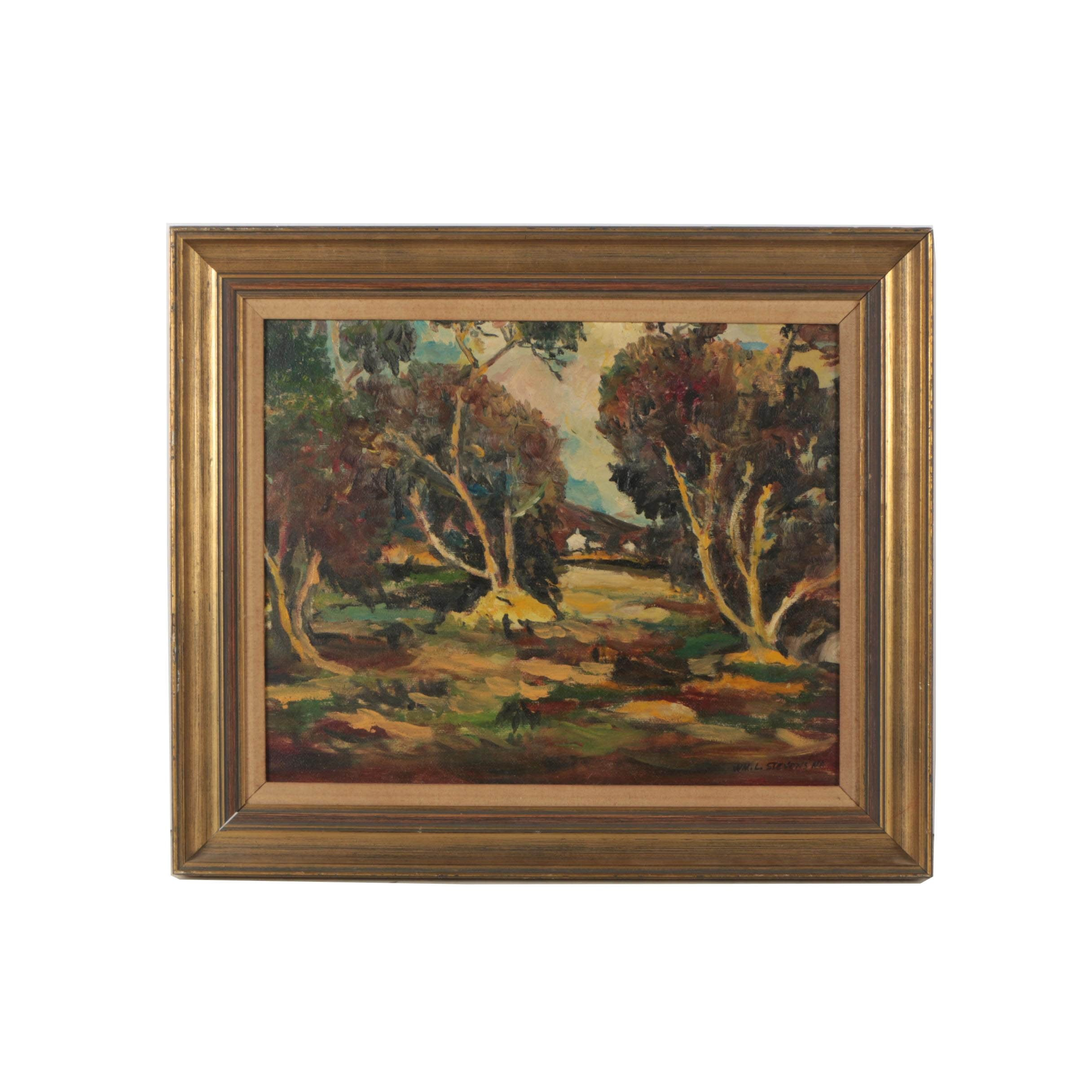 William L. Stevens Landscape Oil Painting