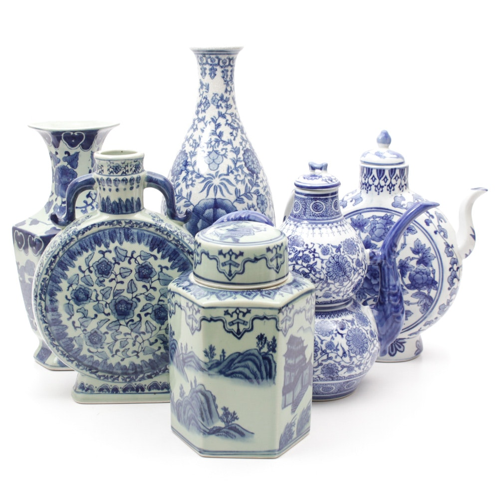Chinese Porcelain Vases and Teapots