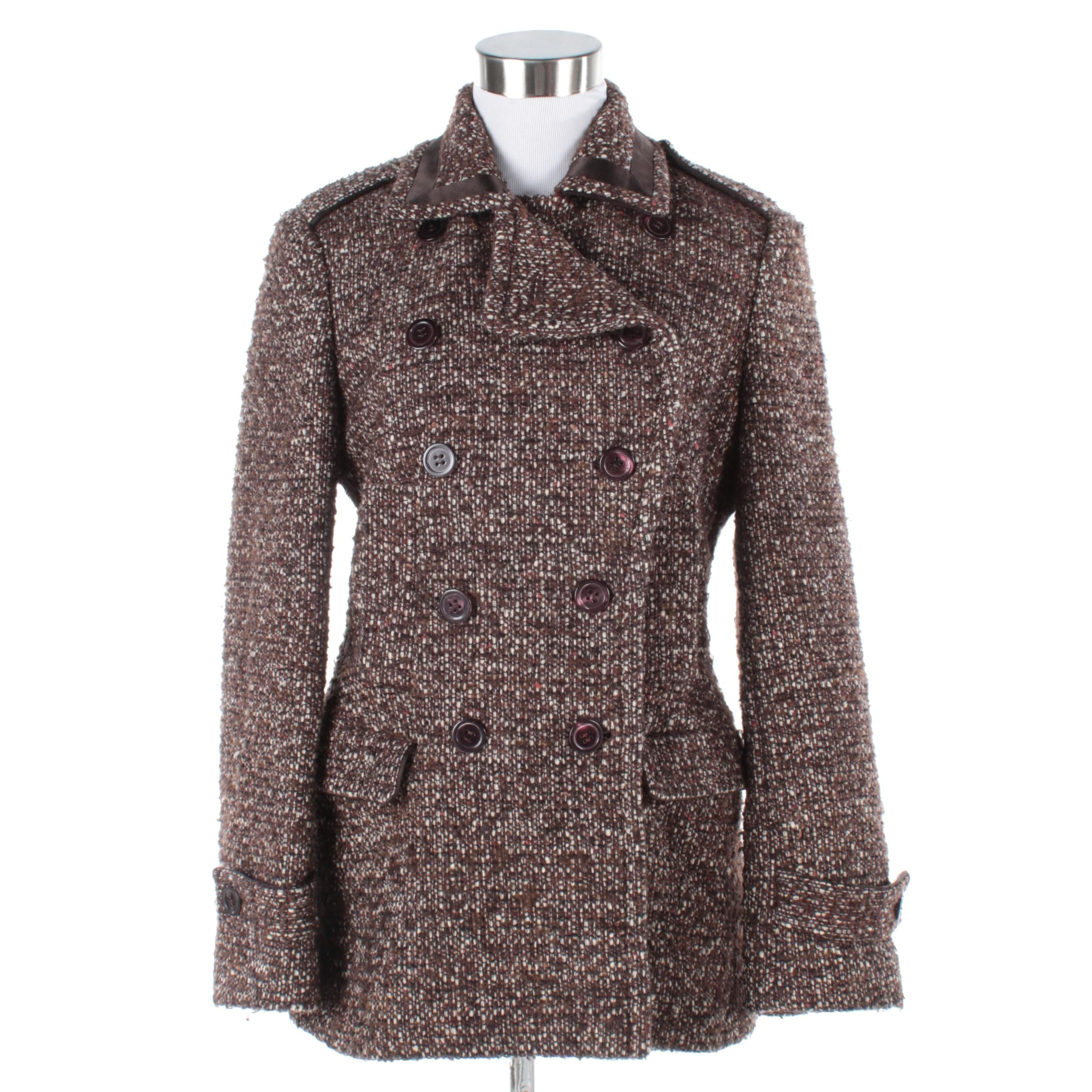 Coach Double-Breasted Tweed Jacket