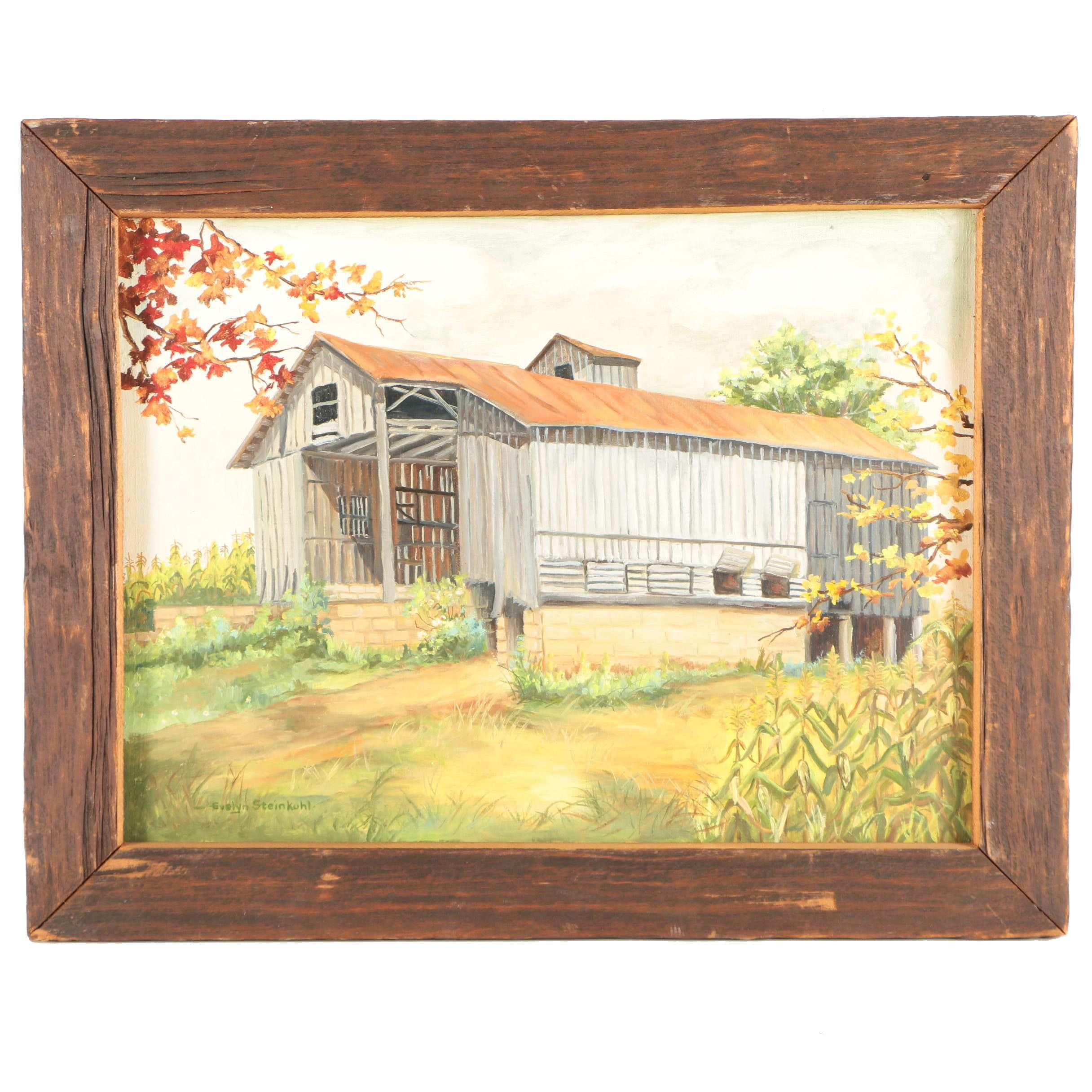 Evelyn Steinkuhl Oil Painting of Barn