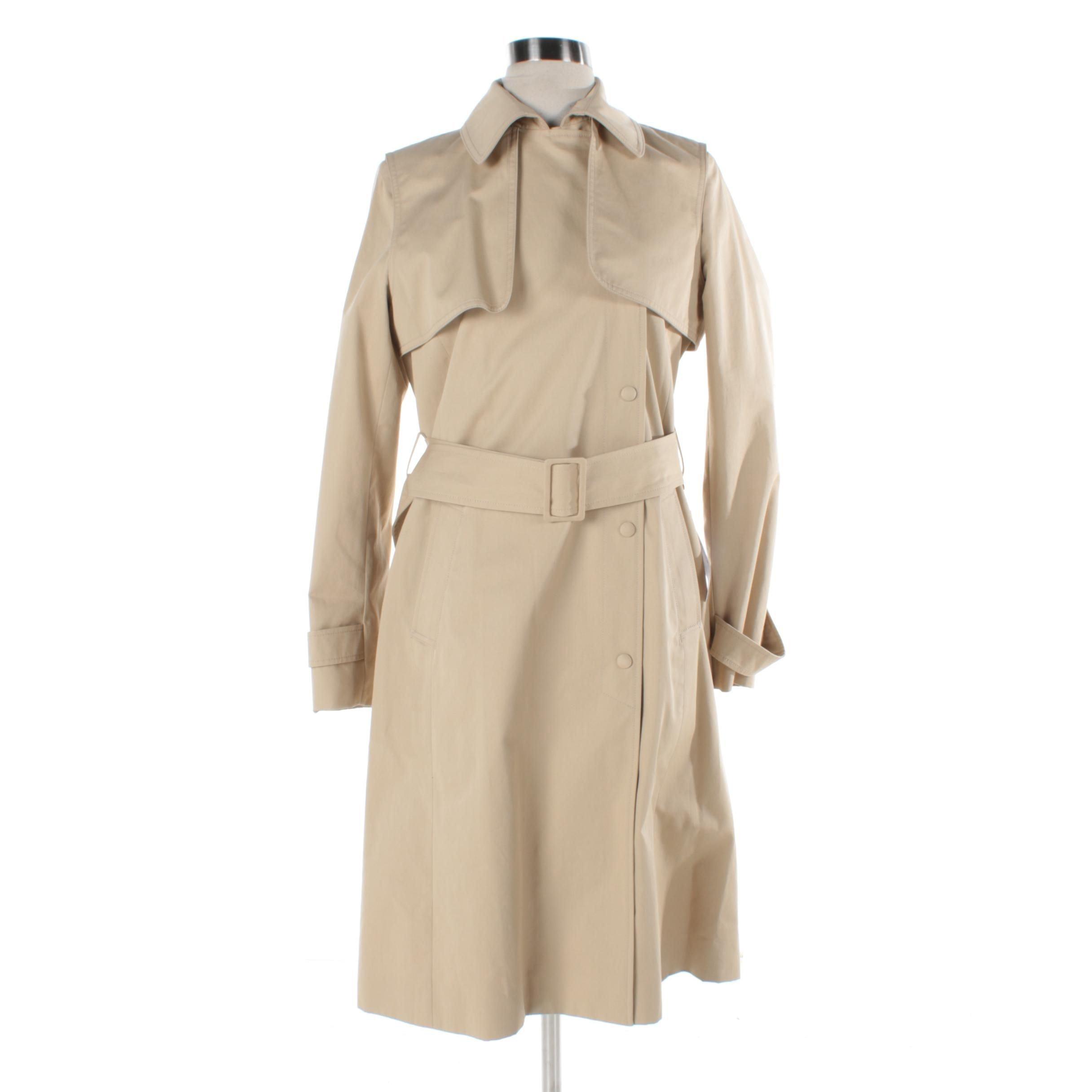 Women's Lacoste Beige Trench Coat