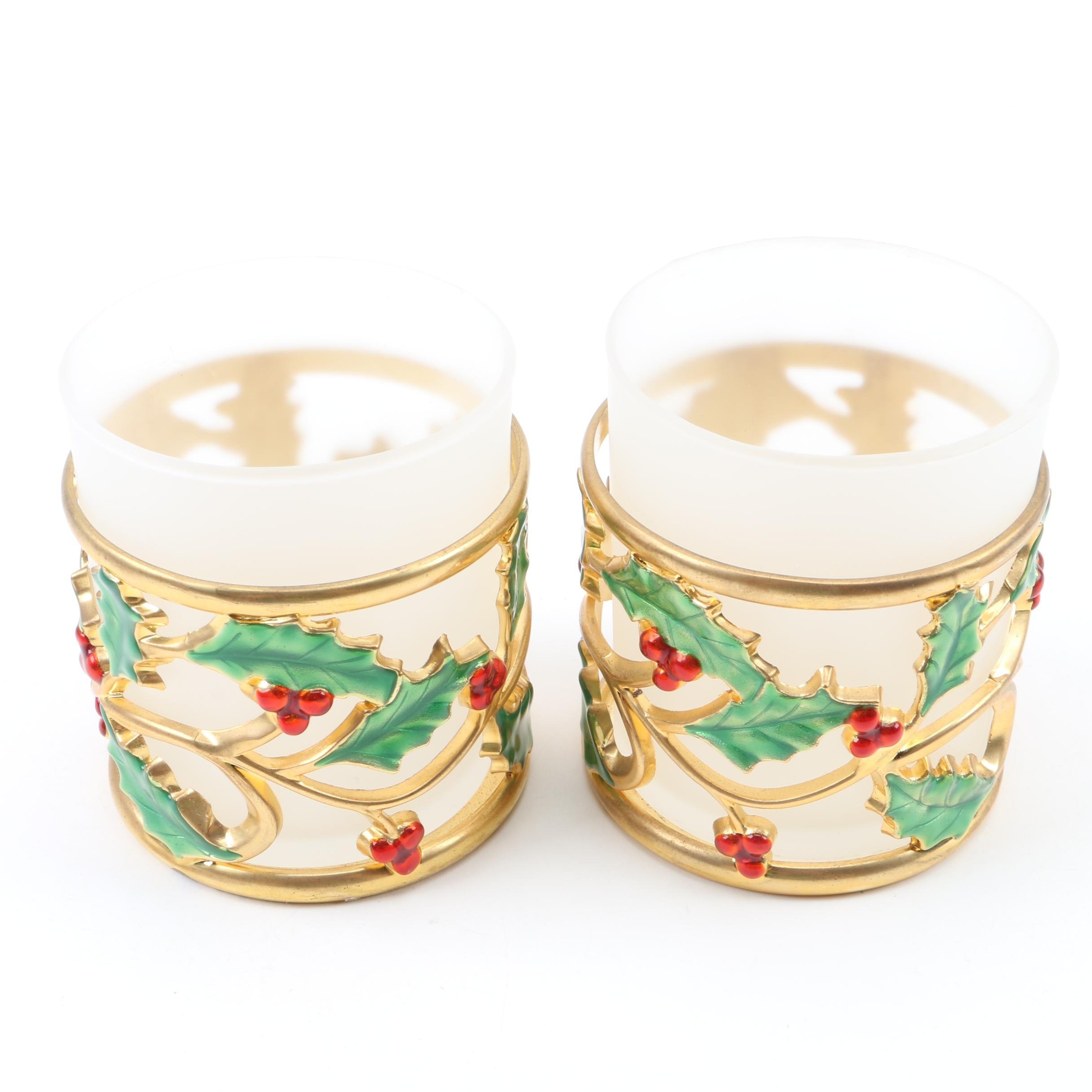 Lenox Holly Candle Votives
