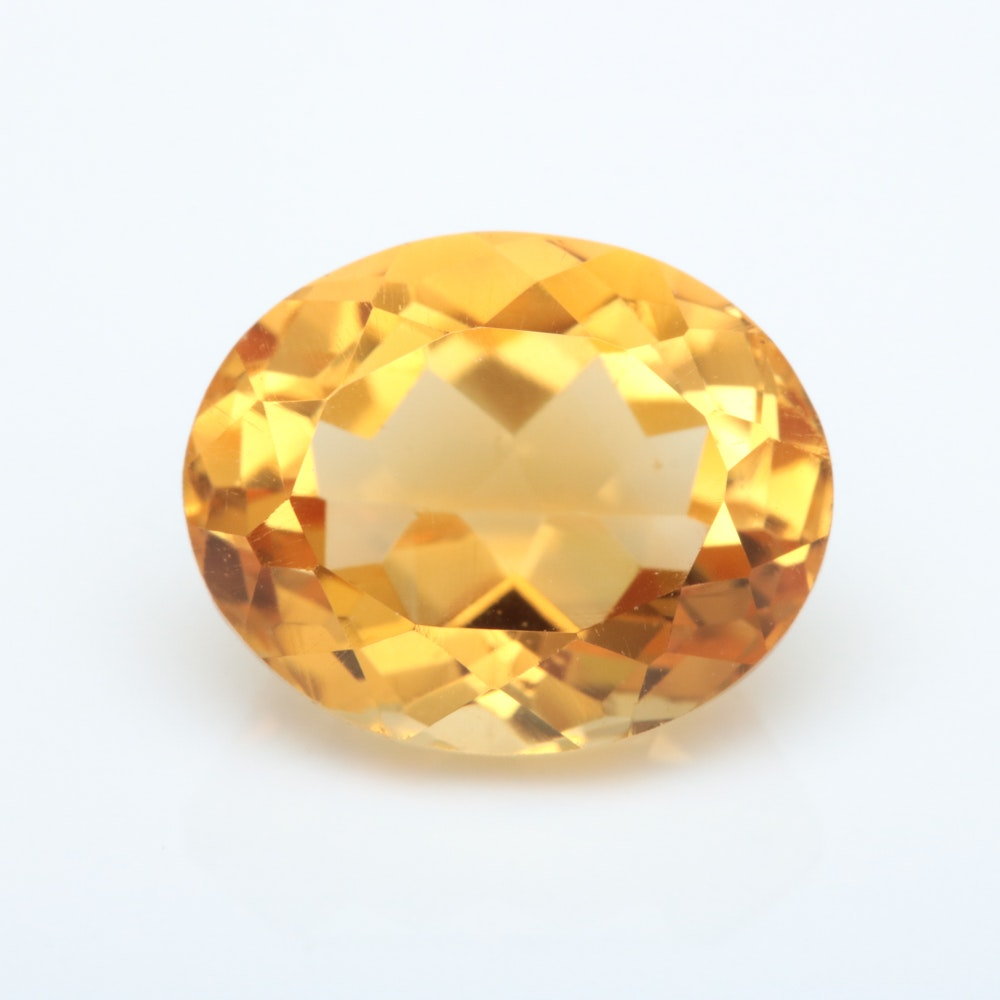 4.29 CT Loose Citrine Gemstone