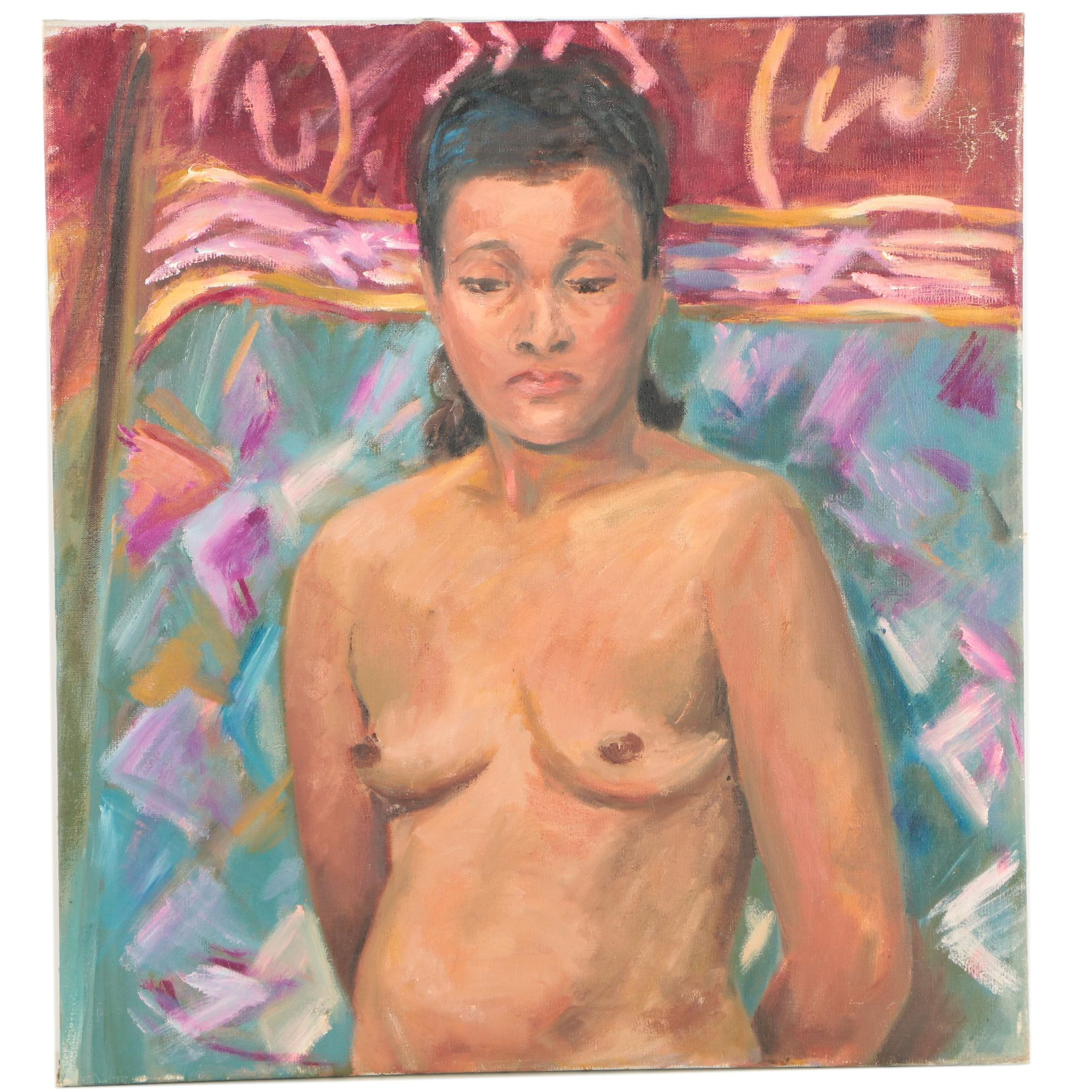 Almquist Oil Painting of a Nude Woman