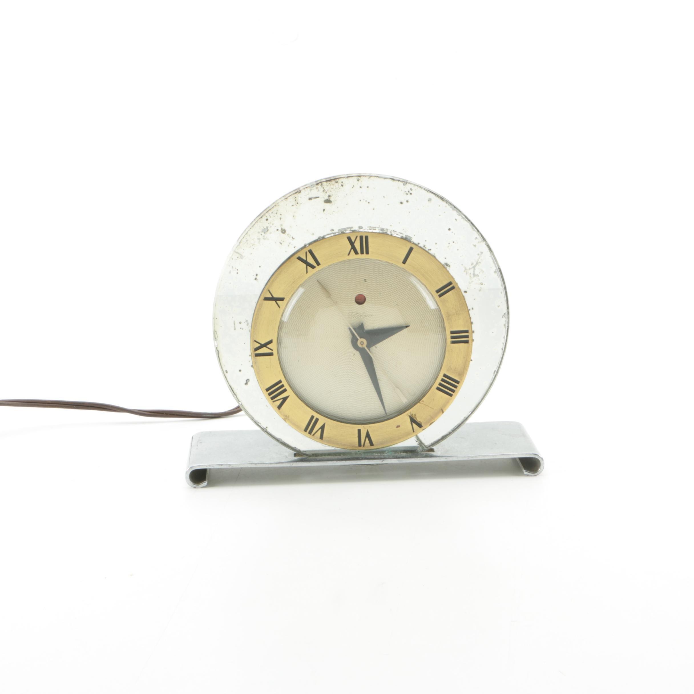 Vintage Warren Telechron Art Deco Mantel Clock