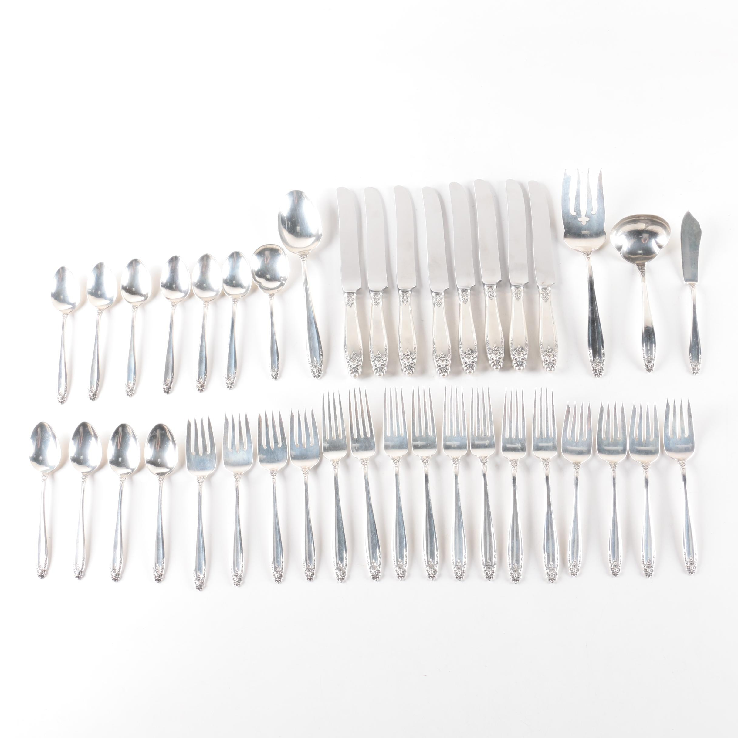 "International Silver Co. ""Prelude"" Sterling Silver Flatware Set"