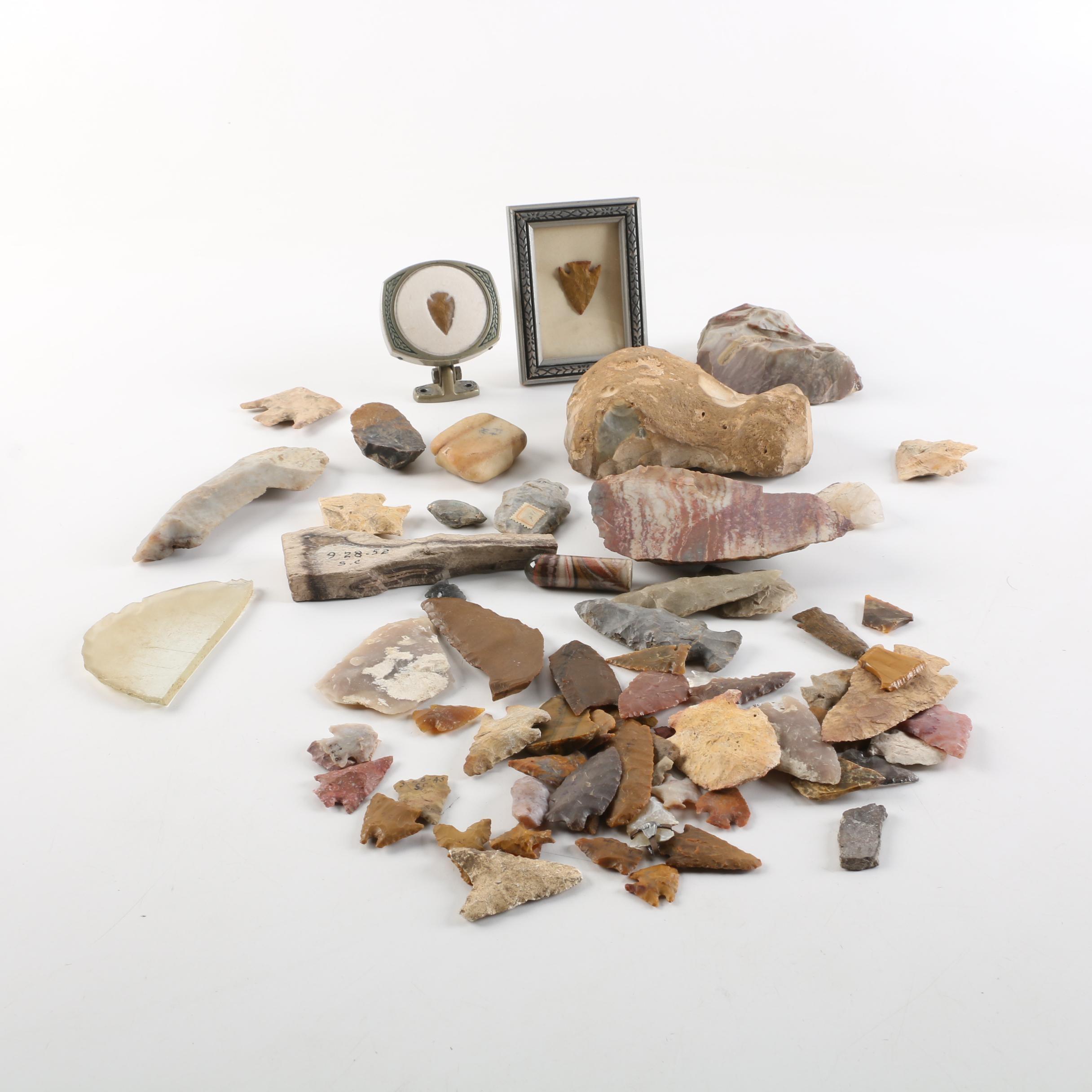 Chert Points and Geologic Specimens