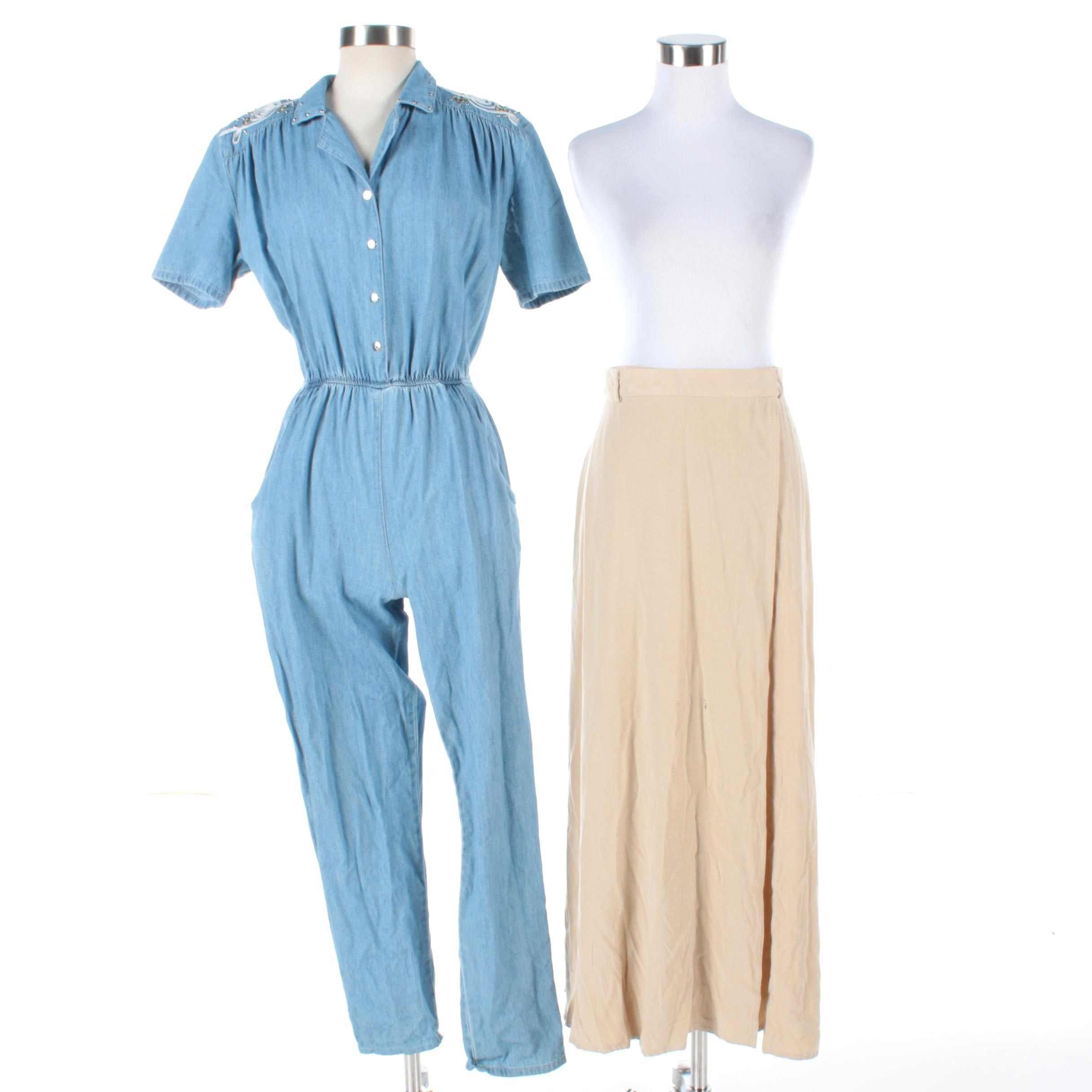 Vintage Pado Denim Jumpsuit and Ropa Wrap Skirt