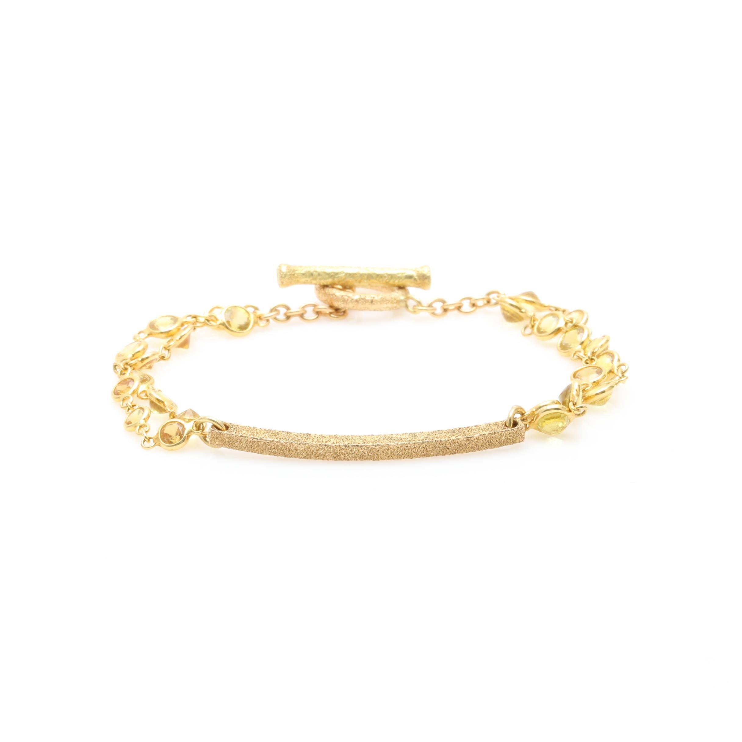 18K Yellow Gold Yellow Sapphire Bracelet