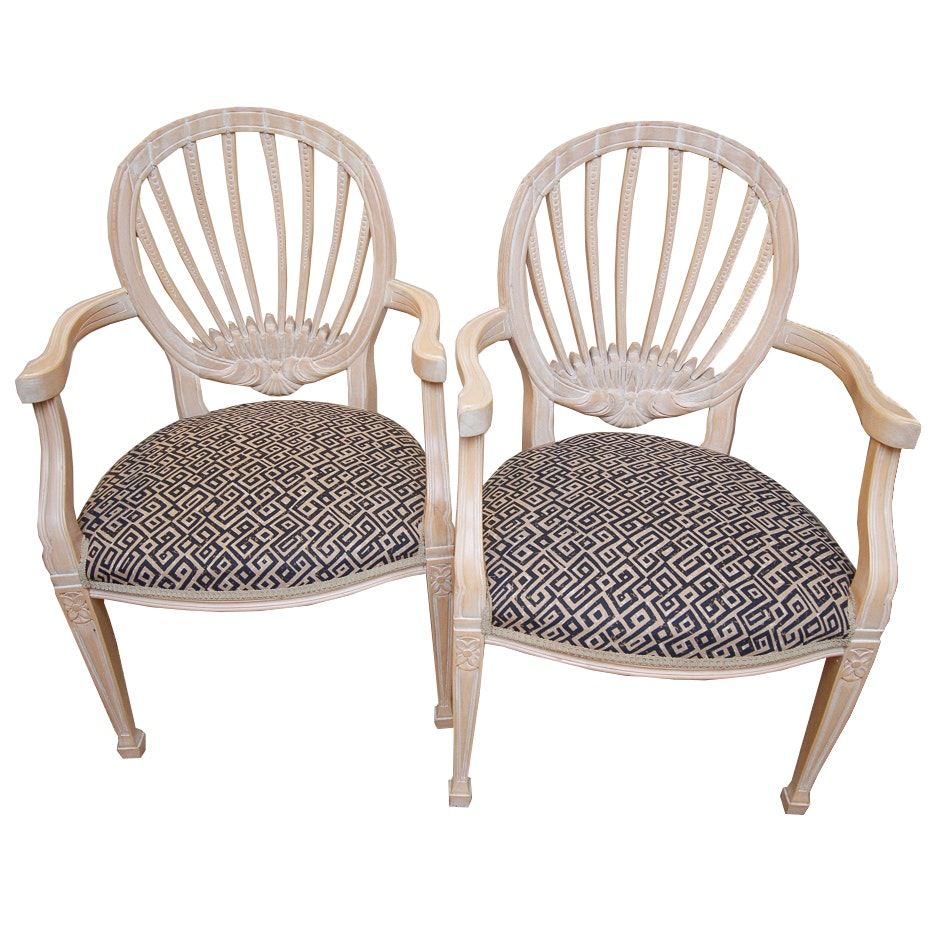 Pair of Hepplewhite Style Armchairs