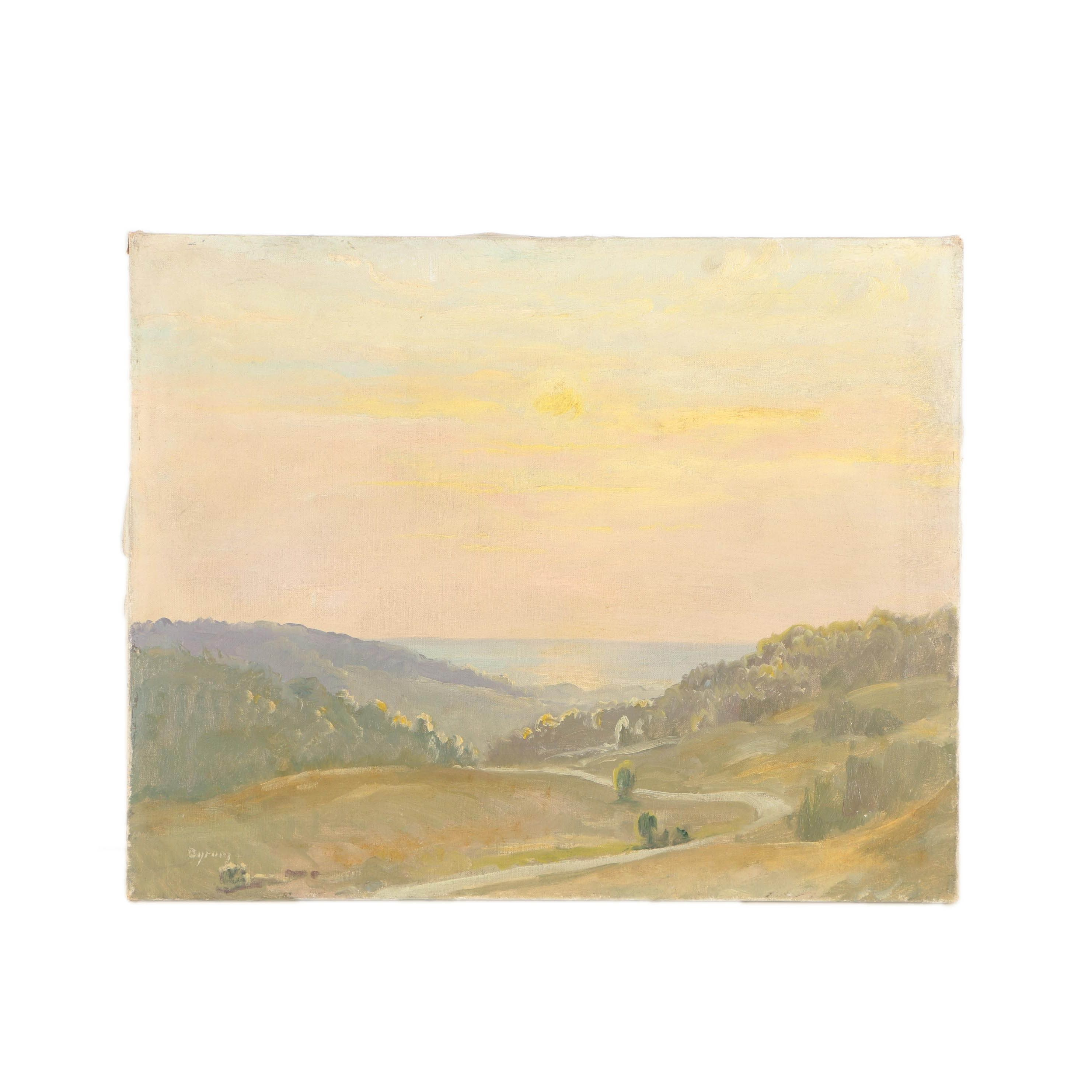 Ruthven Byrum Oil Landscape Painting