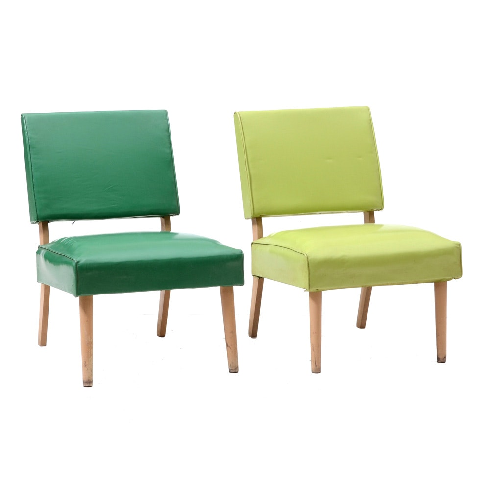 Pair of Mid Century Modern Chairs in Green