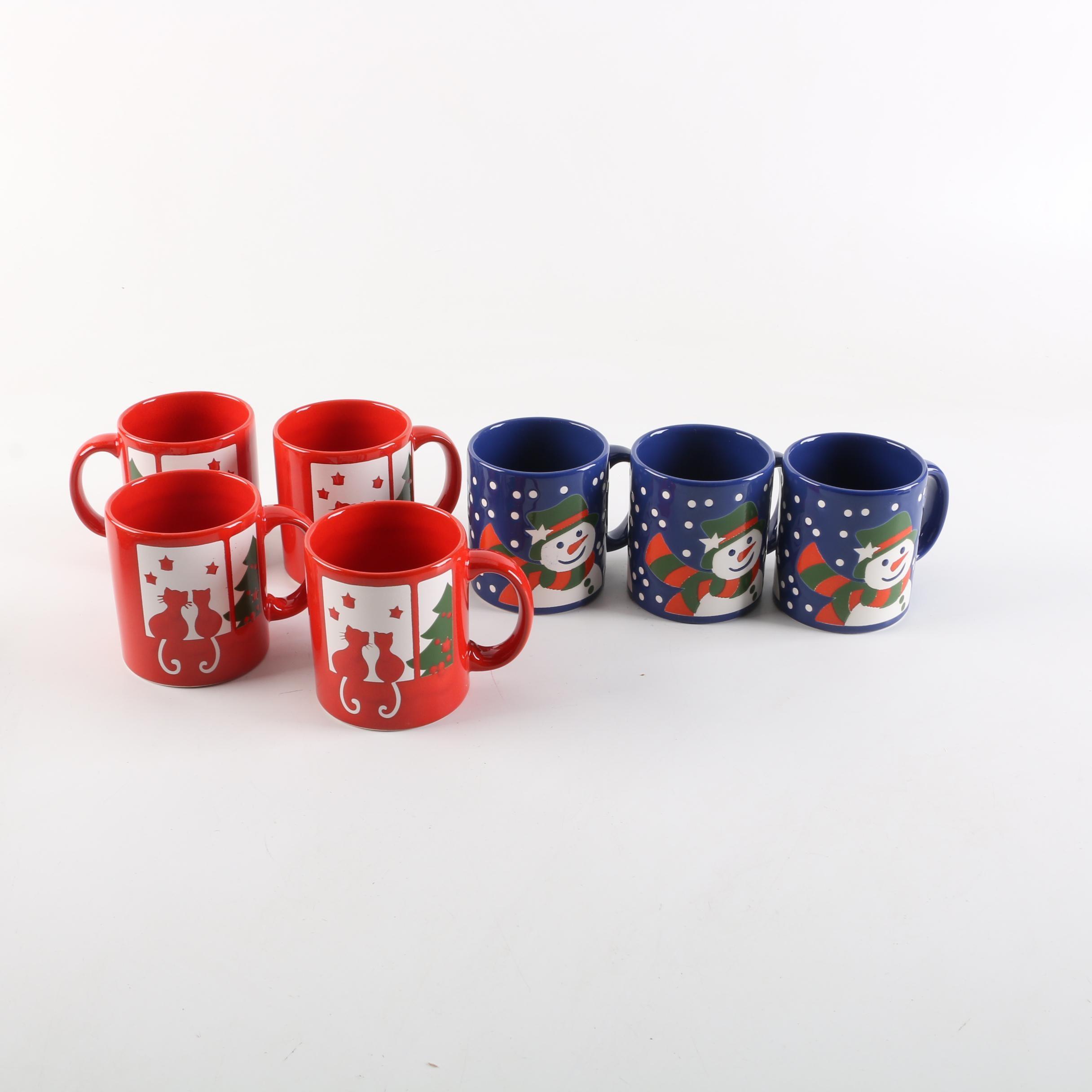 German Waechtersbach Christmas Mugs