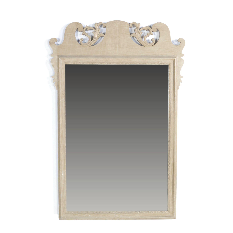 Vintage Painted Wood Wall Mirror