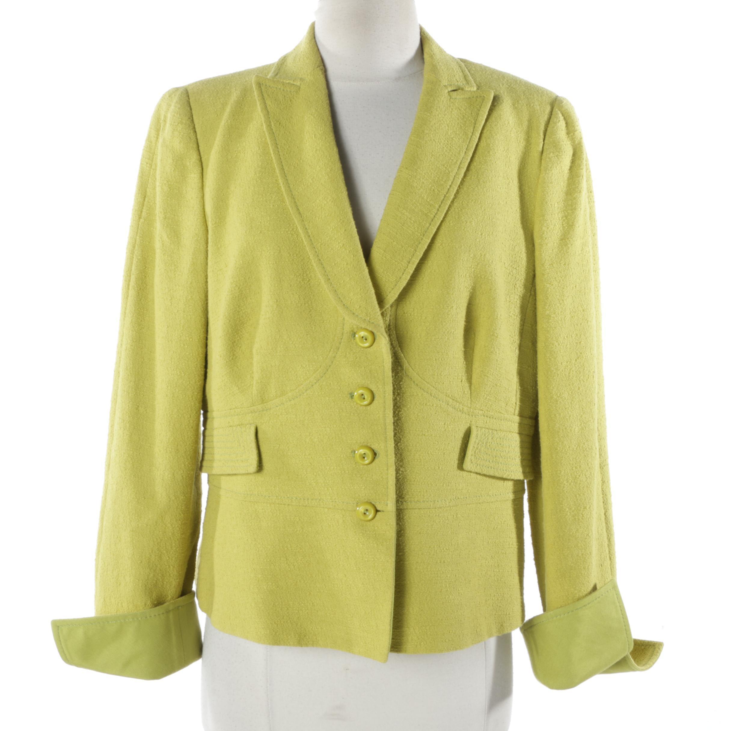 Women's Armani Collezioni Chartreuse Suit Jacket