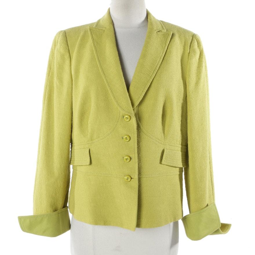 9b300217f511 Women's Armani Collezioni Chartreuse Suit Jacket : EBTH