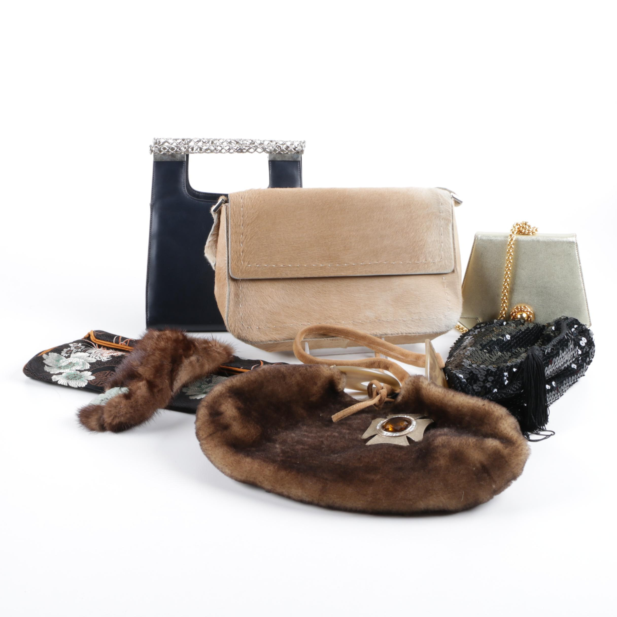 Handbags Including Pony Hair, Shearling and Mink Fur Styles