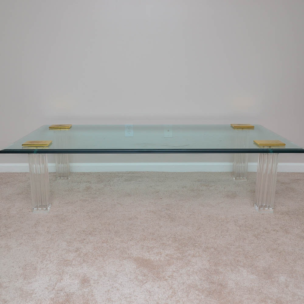 Modern Style Glass Coffee Table