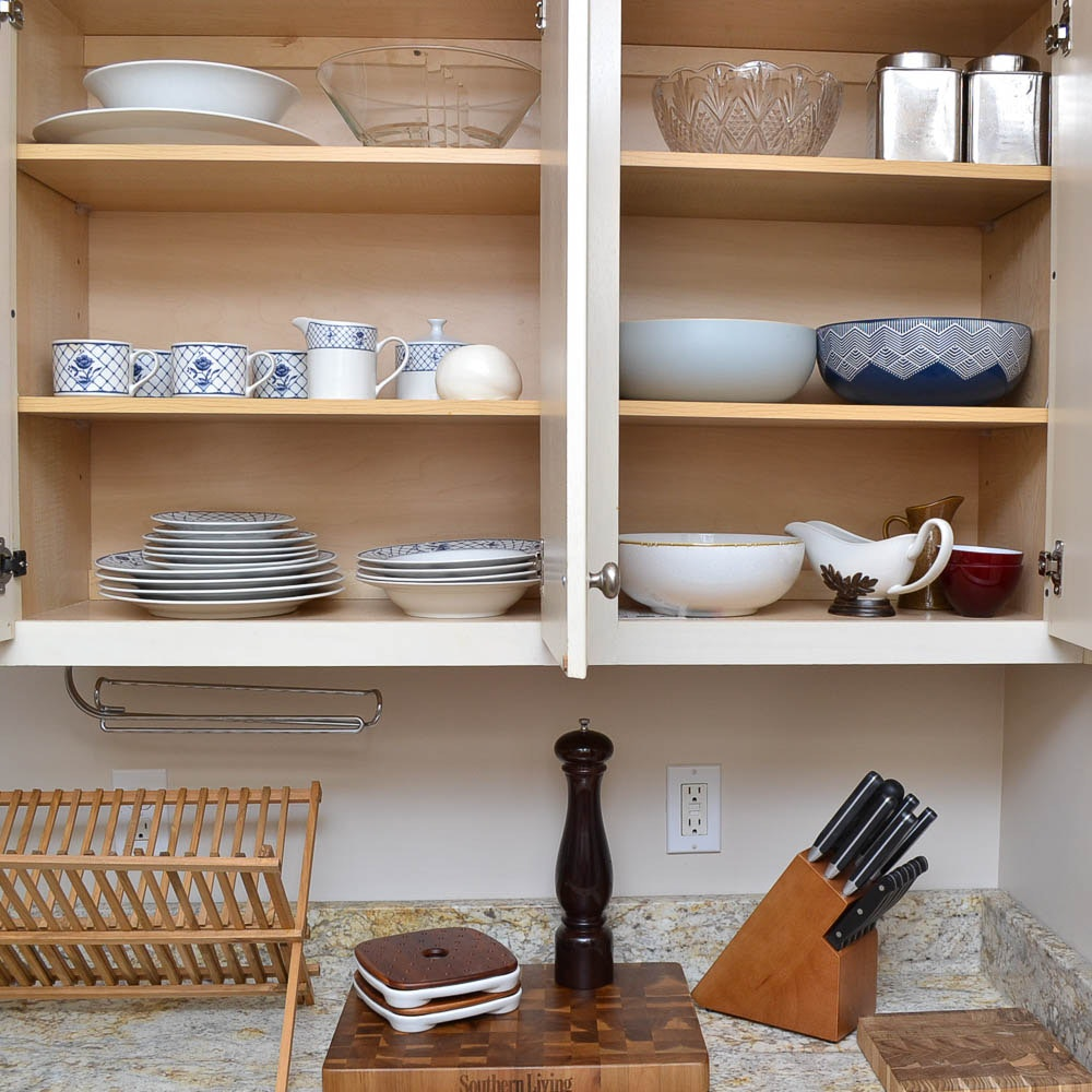Kitchen Essentials Including Bakeware, Dinnerware, Flatware and Drinking Glasses