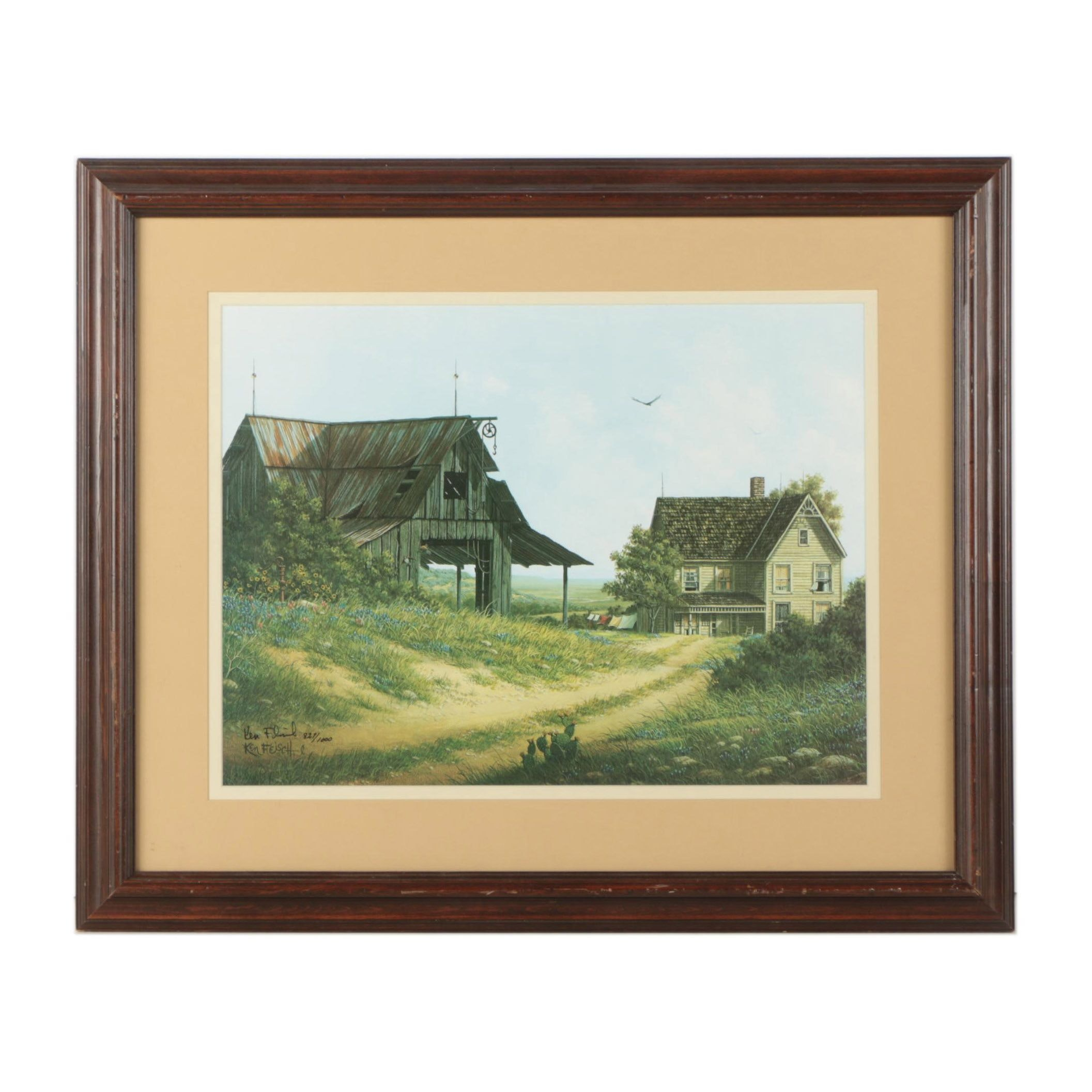 "Ken Fleisch Limited Edition Offset Lithograph ""The Edge of Time"""
