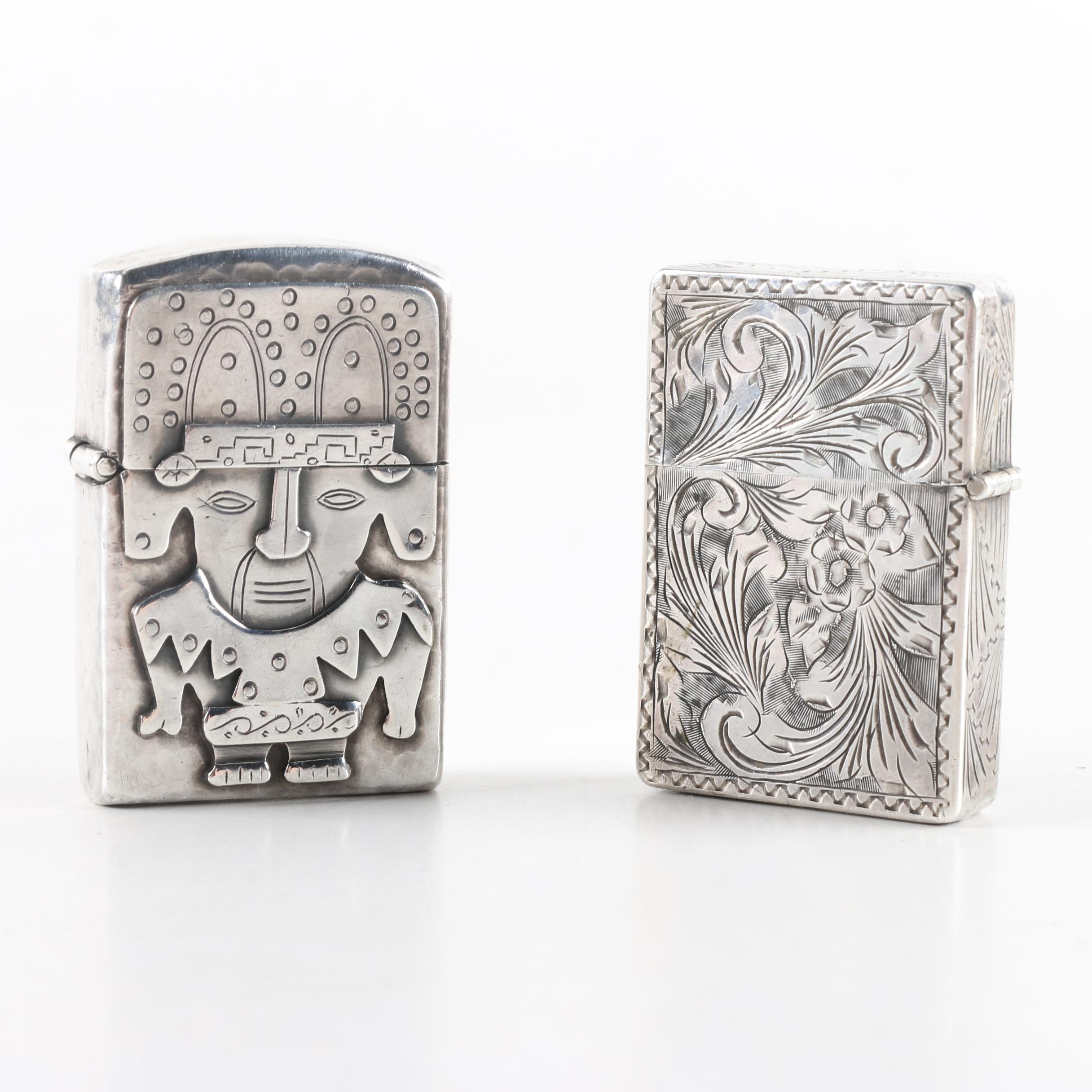 Peruvian Sterling Silver Figural Lighter and More