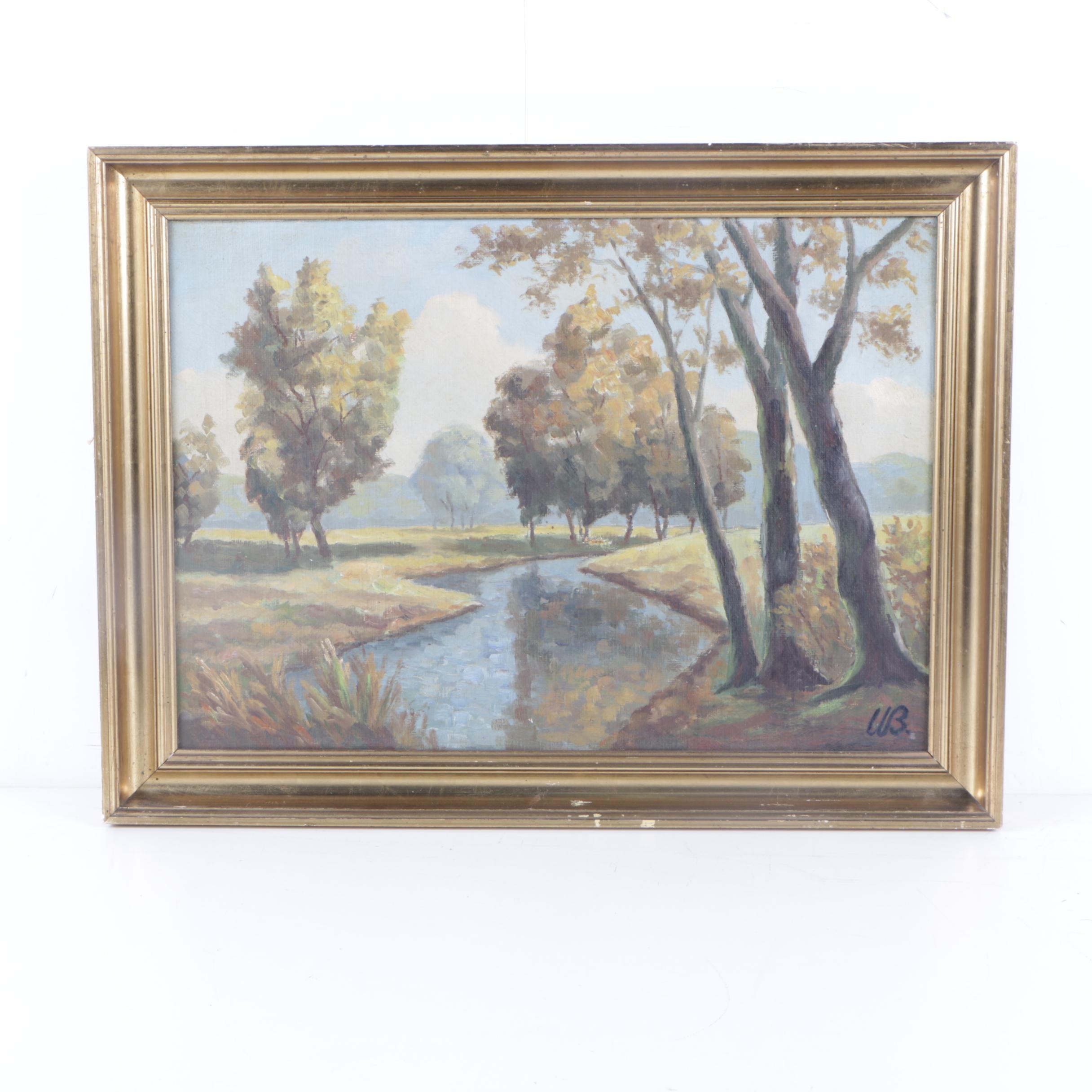 U.B. Oil Landscape Painting