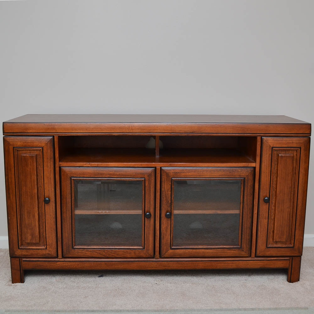 Mahogany Finished Media Cabinet