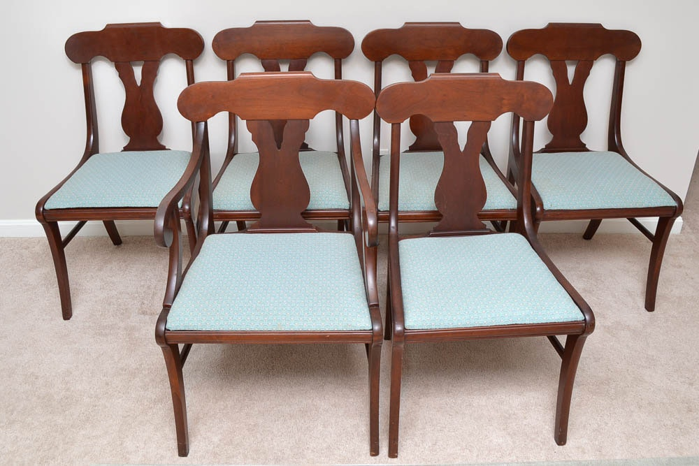 Set Of Vintage Empire Style Dining Chairs By The Paramount Furniture  Company ...