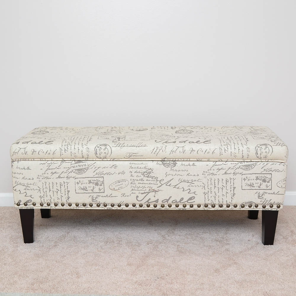 Upholstered Storage Bench by Office Star Products