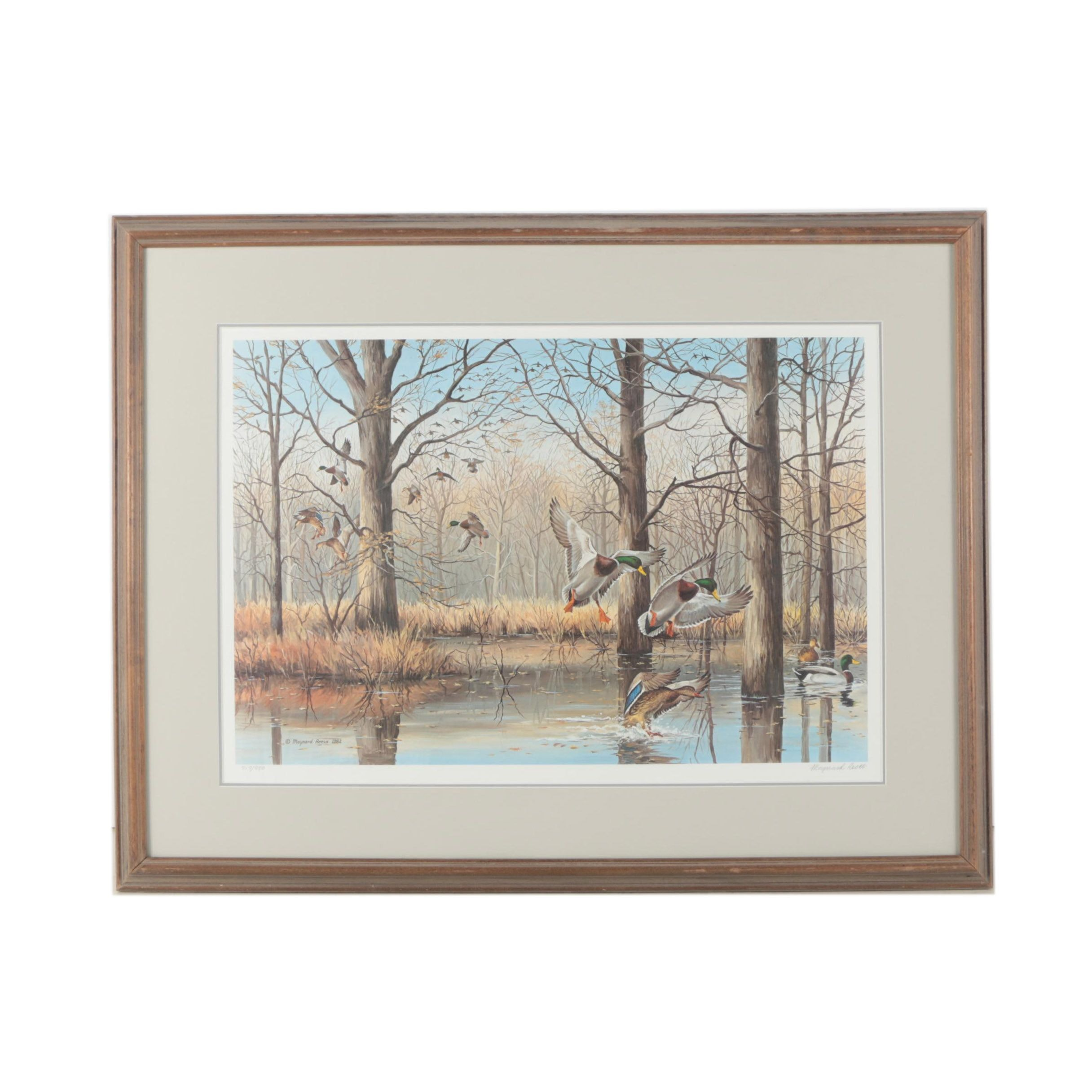 "Maynard Reece Limited Edition Offset Lithograph ""Flooded Timber"""