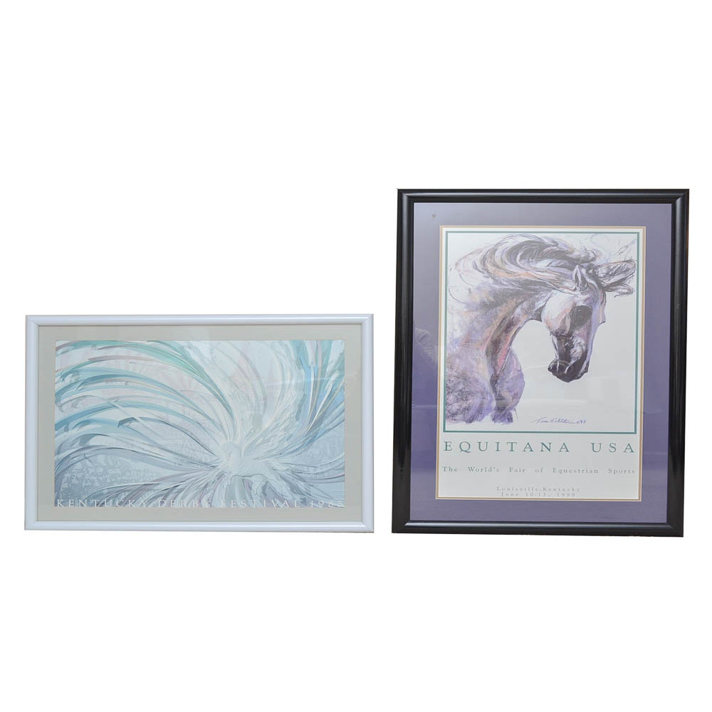 Two Offset Lithographs of Horses