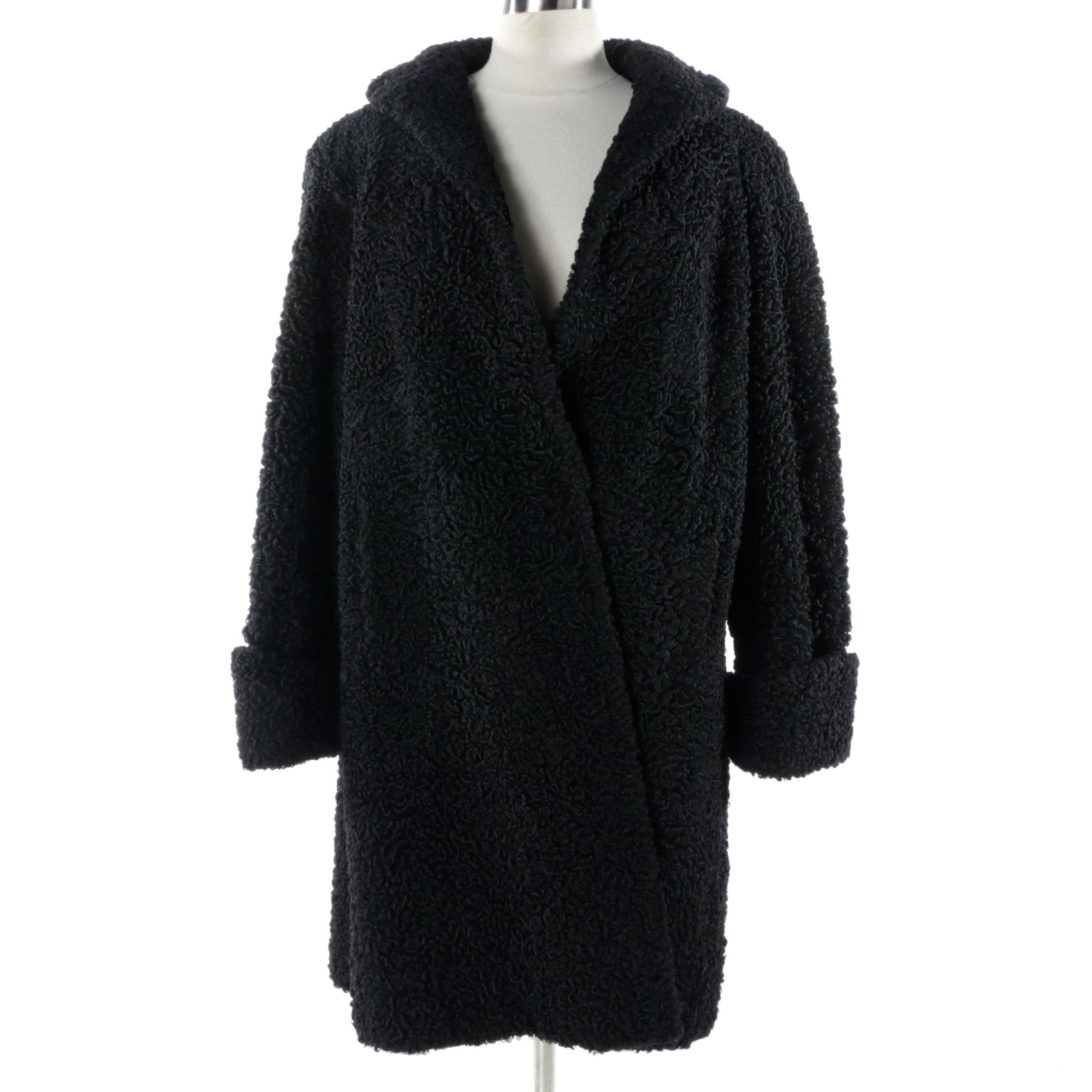 Women's Vintage Black Persian Lamb Coat