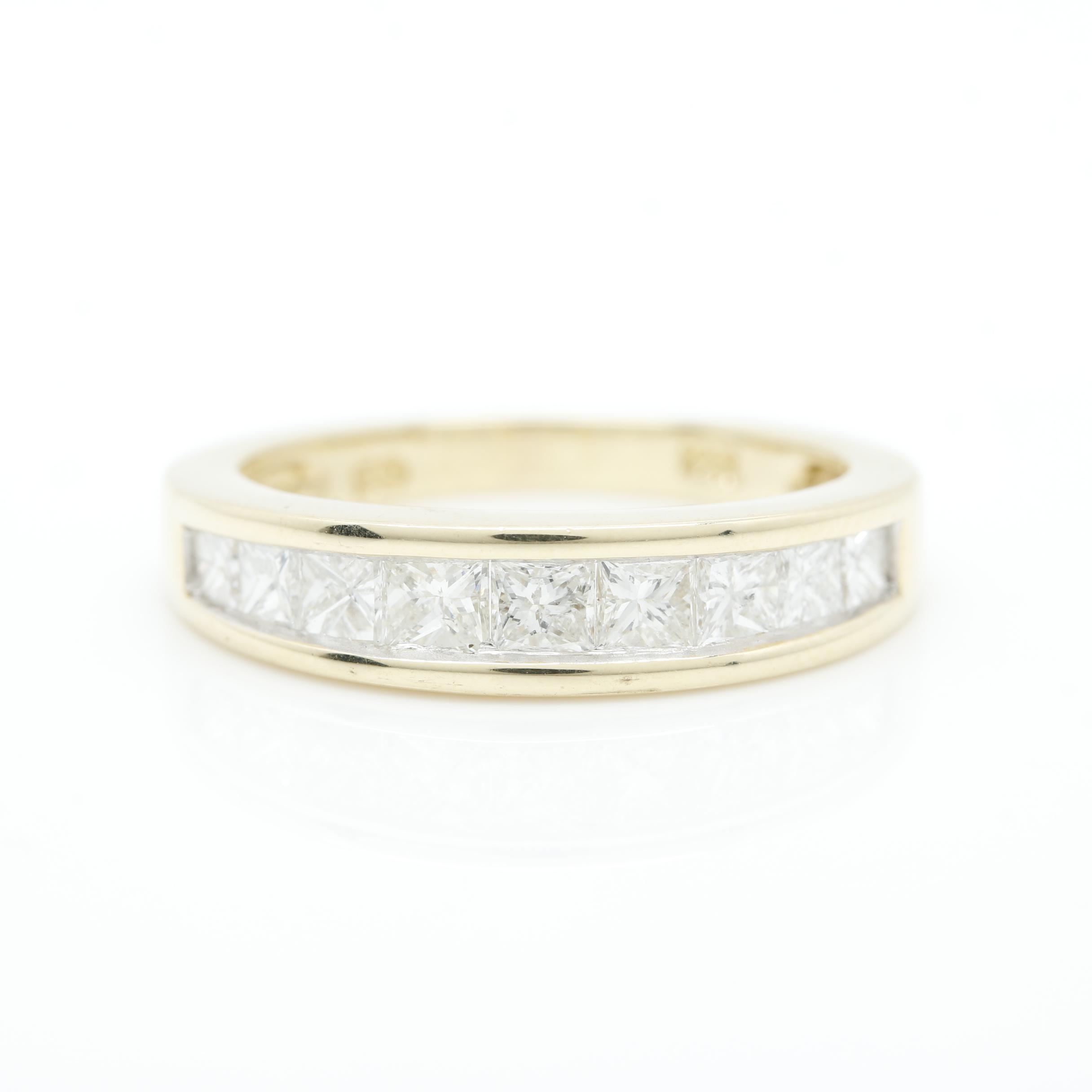 14K Yellow Gold 1.05 CTW Diamond Ring