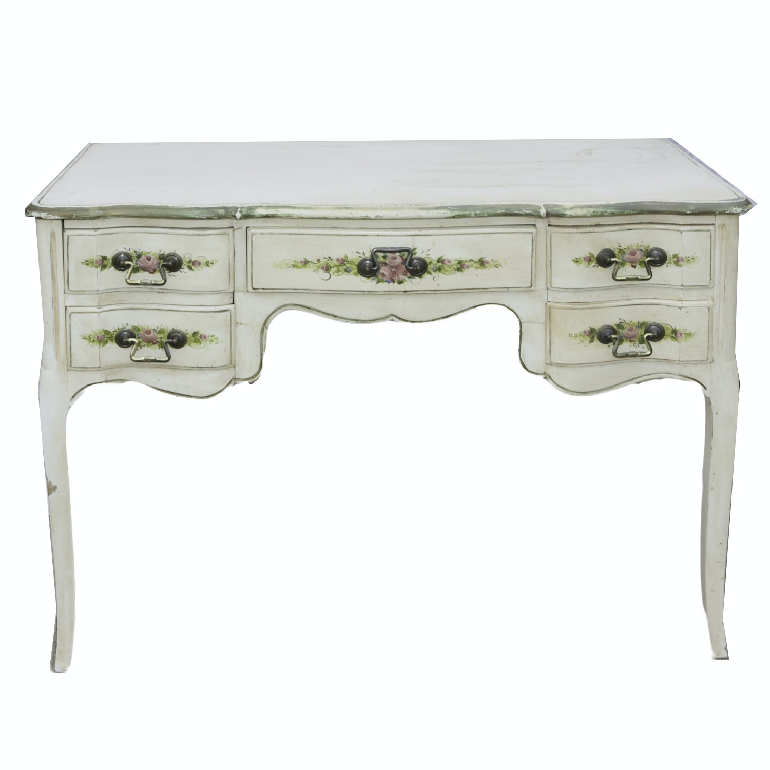 French Provincial Style Painted Writing Desk
