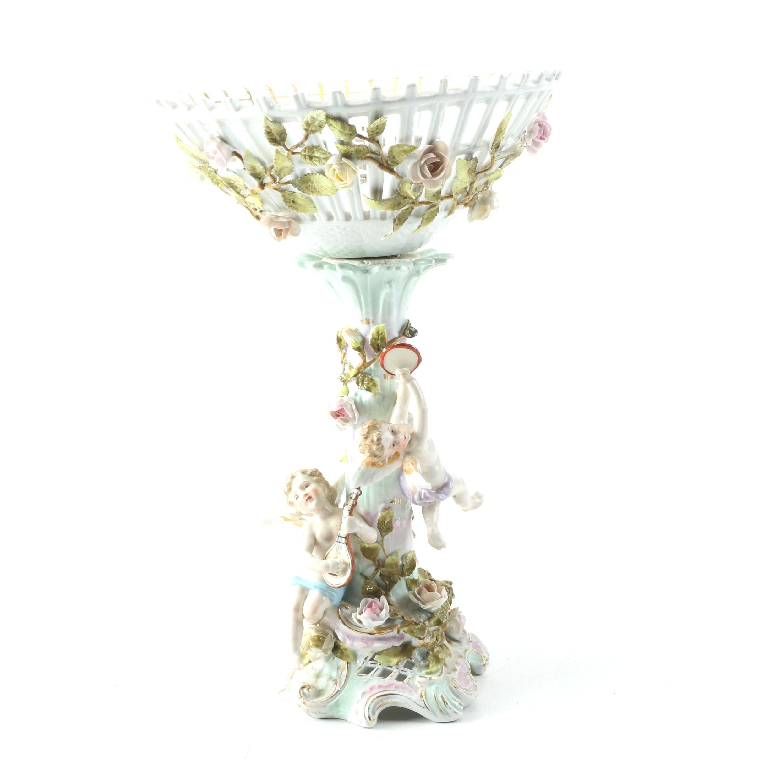 Antique C.G. Schierholz Porcelain Compote