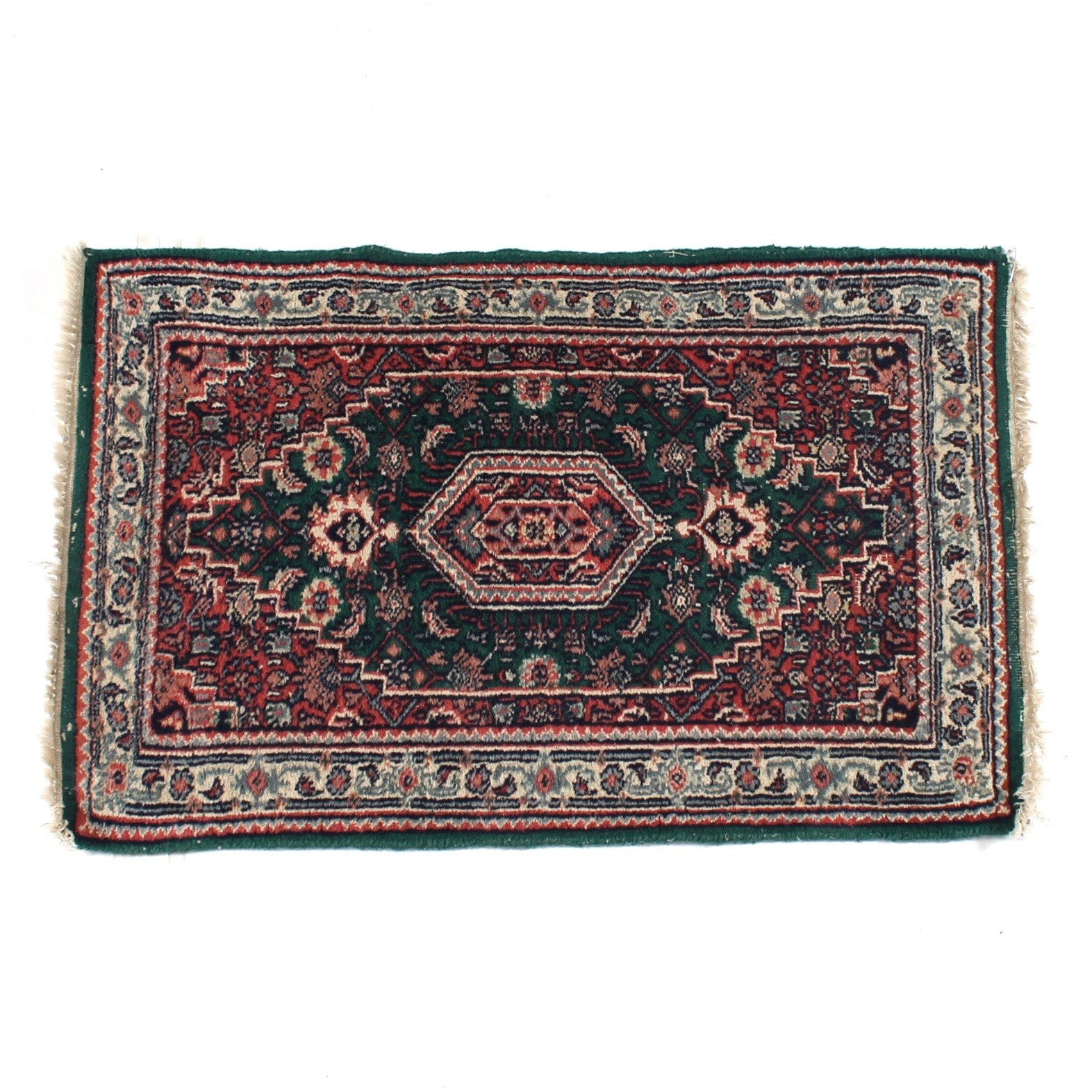 Hand-Knotted Persian Bijar Wool Accent Rug
