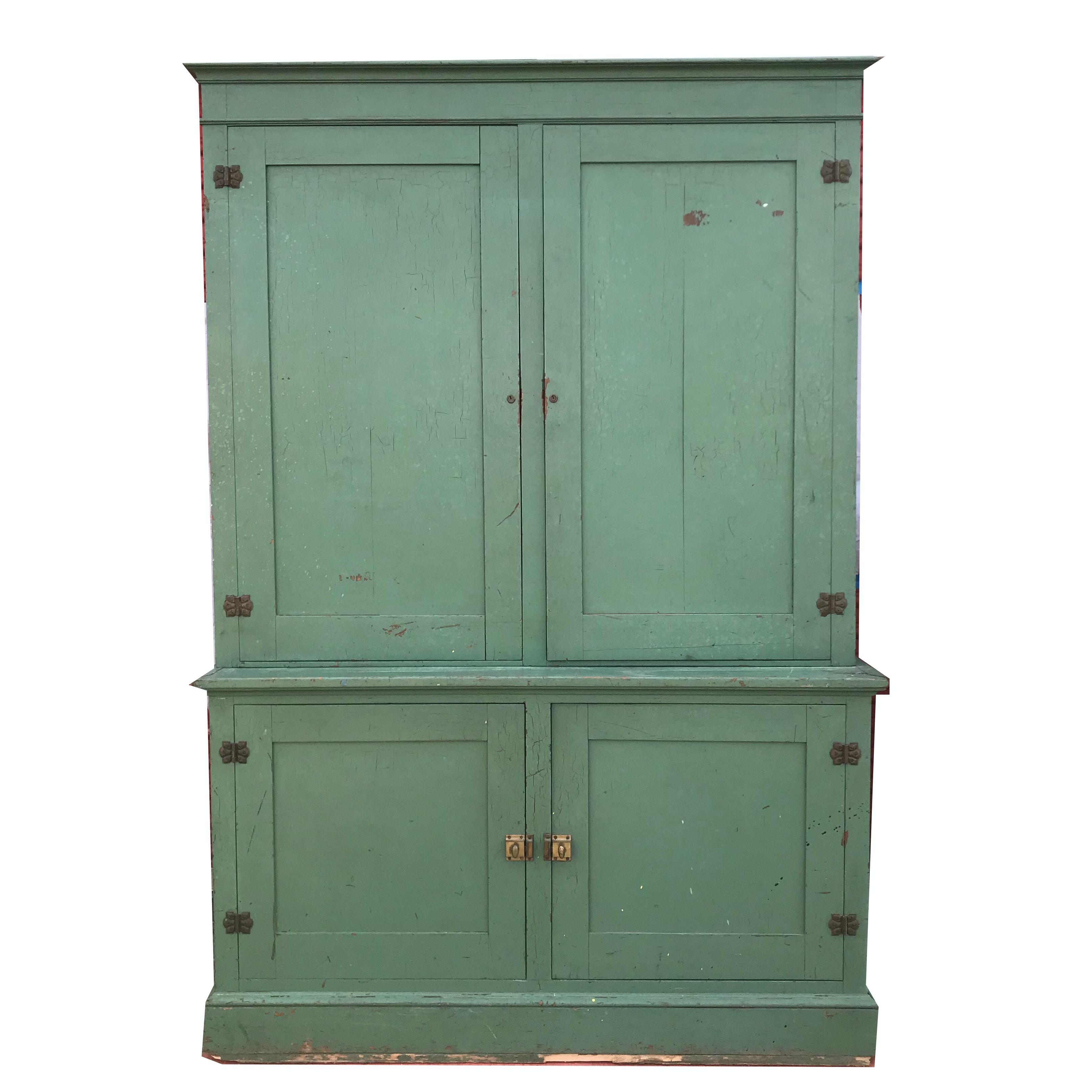 Antique Painted School Locker
