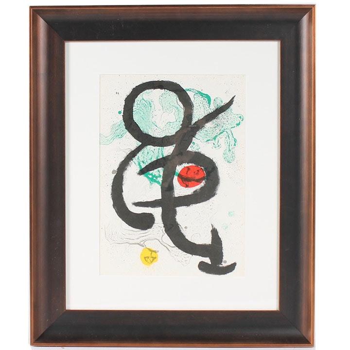 """Joan Miró Lithograph for 1963 """"Derrière le Miroir"""" Magazine"""