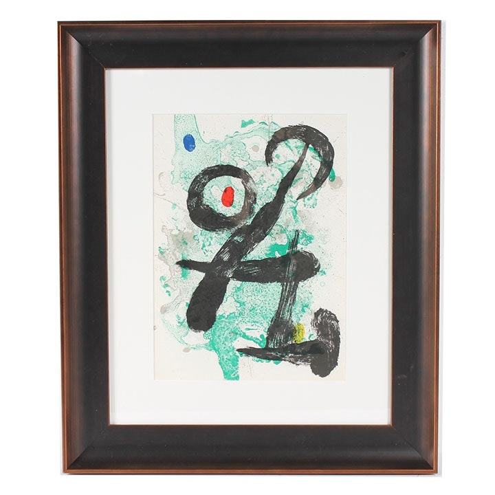 "Joan Miro Color Lithograph for 1963 ""Derrière le Miroir"""