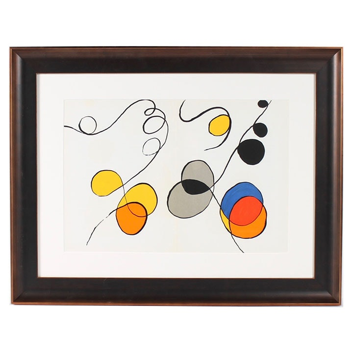 "Alexander Calder Lithograph for October 1968 ""Derrière le Miroir"""