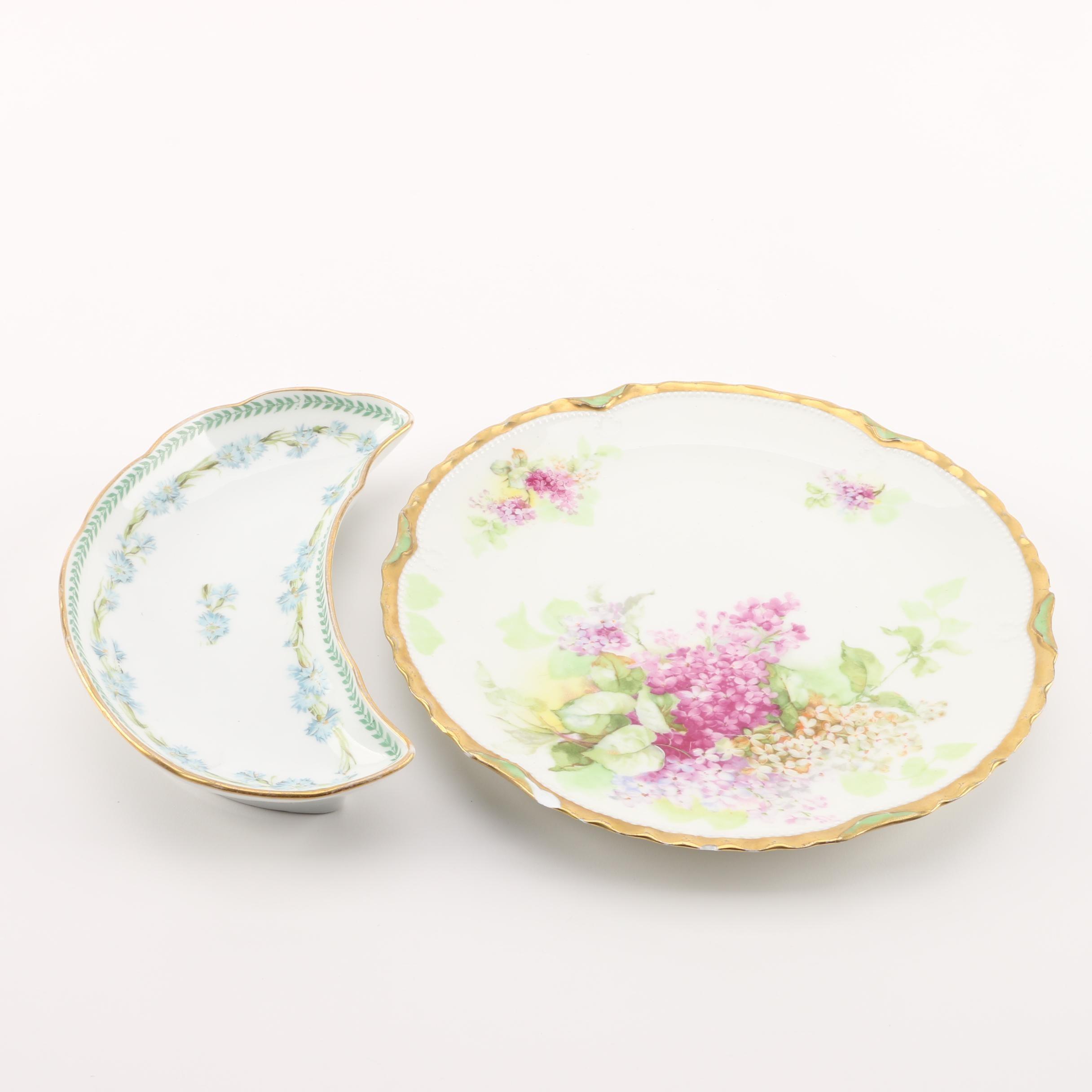 Vintage Limoges Porcelain Tableware Including Charles Martin